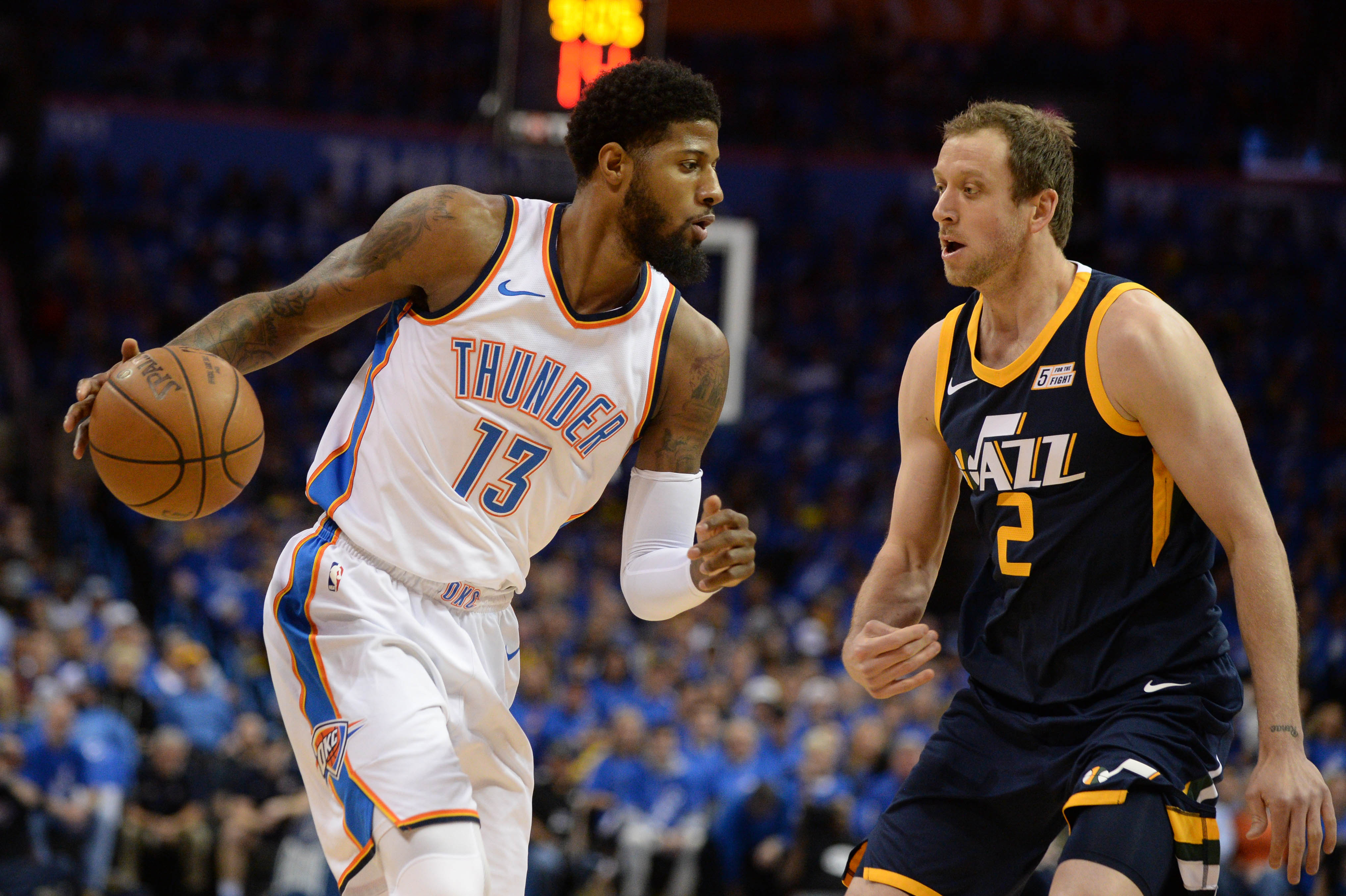 7cbc25f00ea Utah Jazz steal OKC s Thunder and home court with big win
