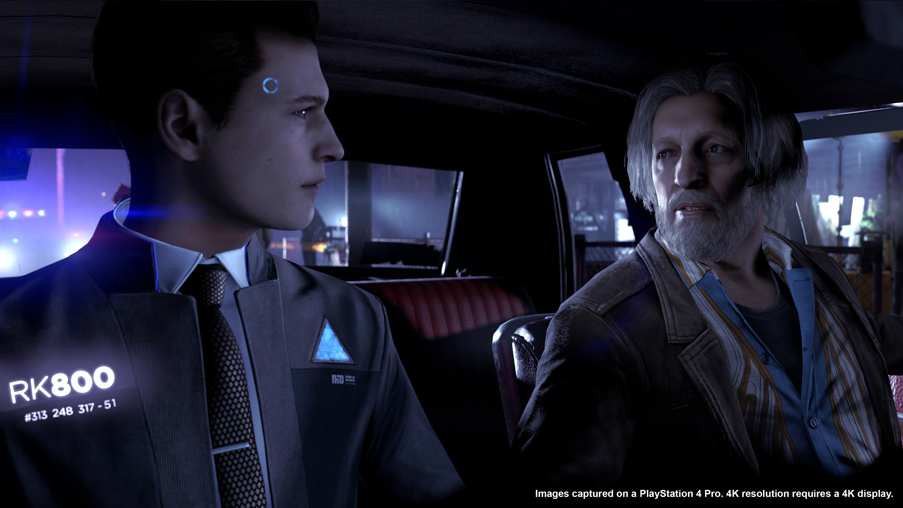 Detroit: Become Human - Connor and Hank in a car