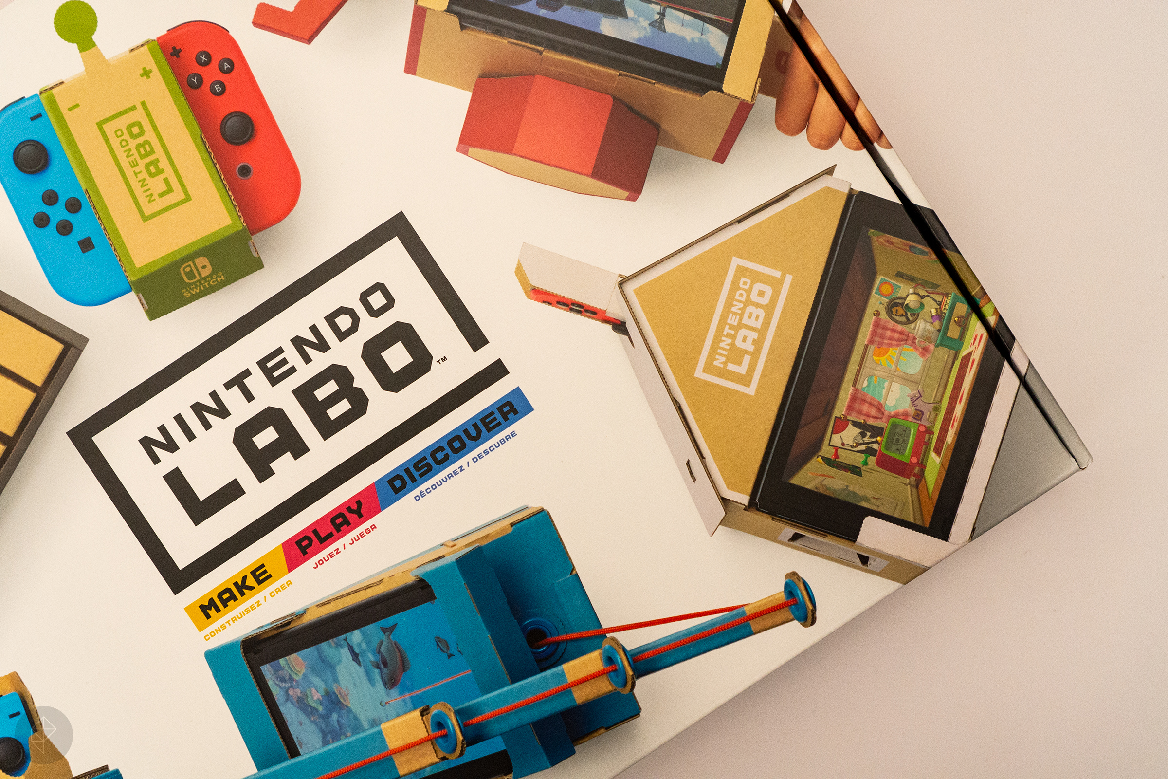 Nintendo Labo - angle photo of box taken from above