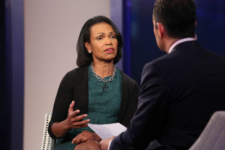 Condoleezza Rice Visits 'FOX And Friends'