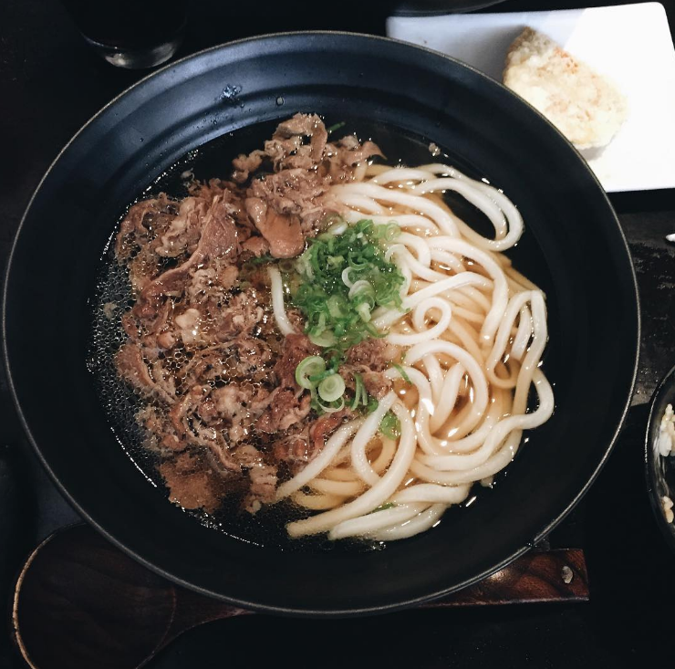 Beef udon at Marugame Monzo