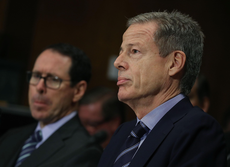 AT&T CEO Randall Stephenson and Time Warner CEO Jeff Bewkes