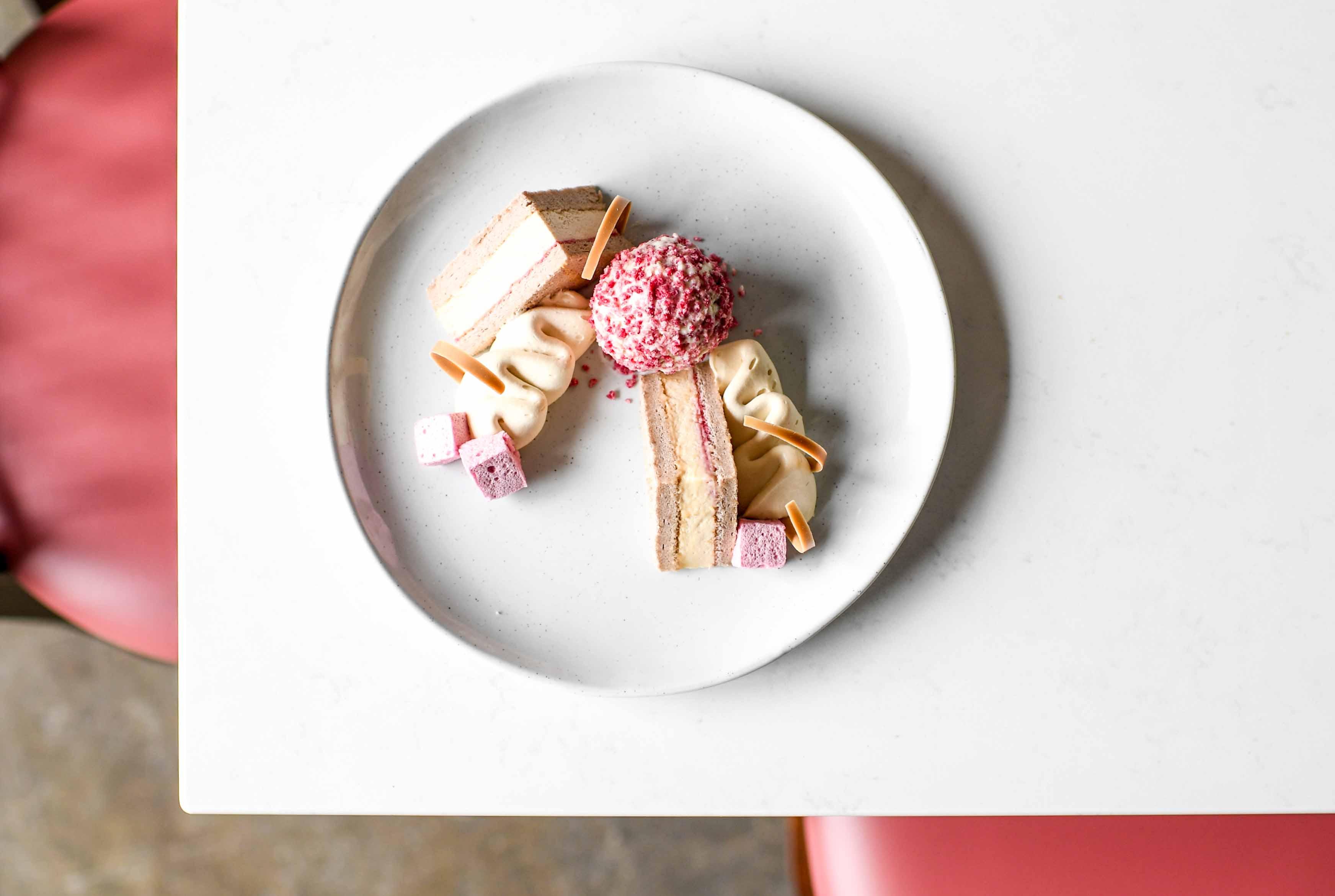 Raspberry chiffon cake at Novel