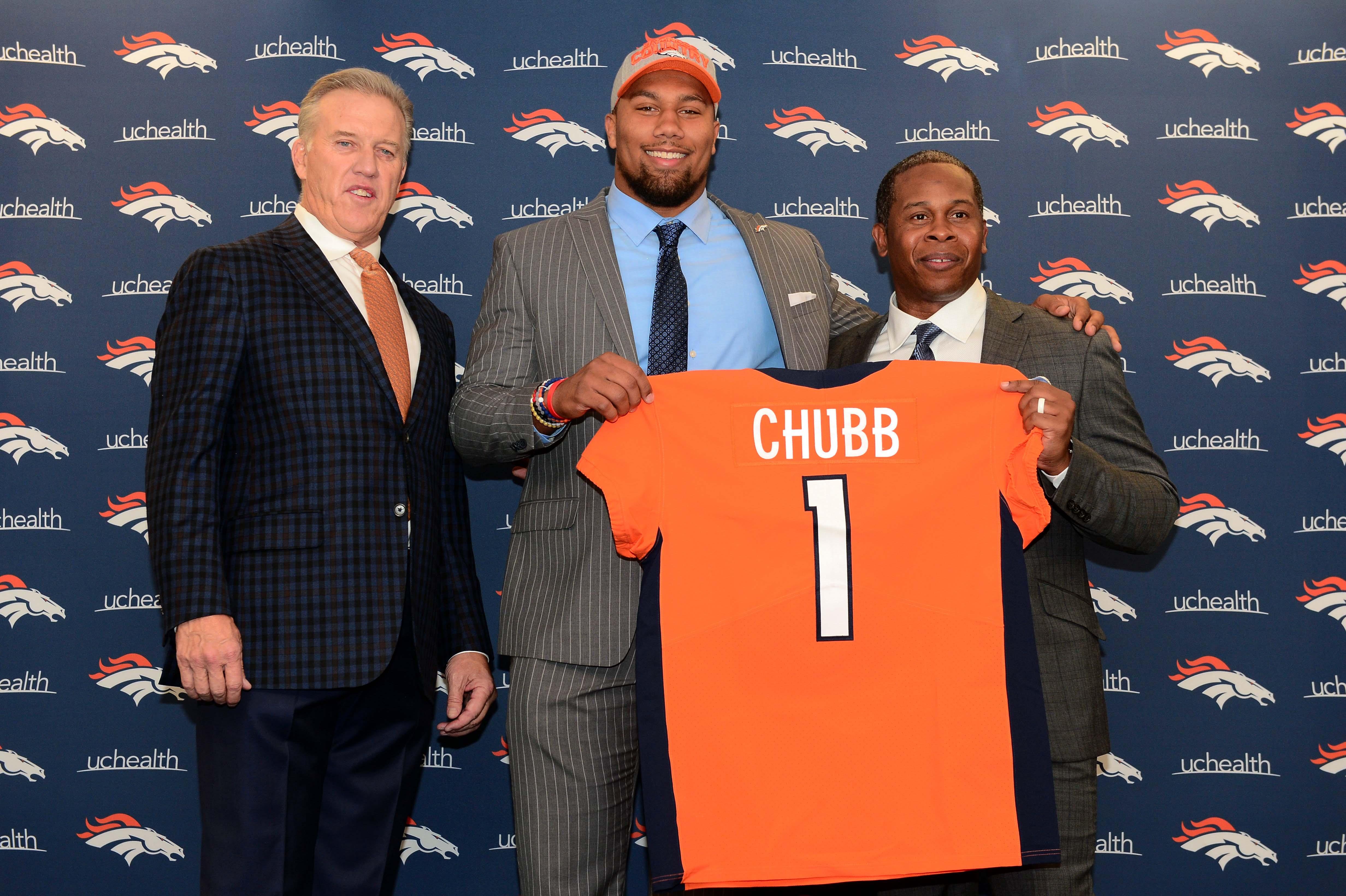 NFL: Denver Broncos-Bradley Chubb Press Conference