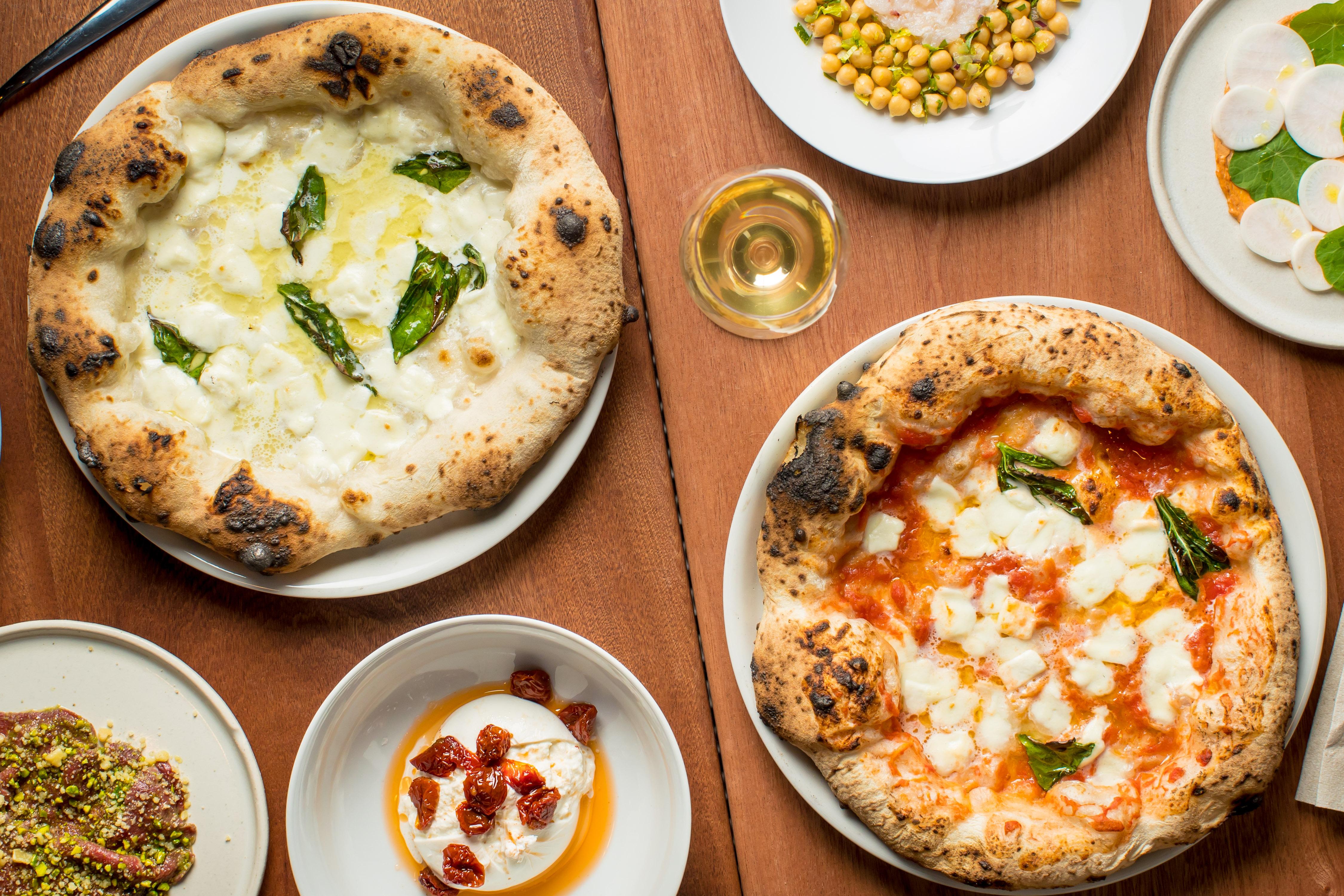 Pizzas and small plates at Una Pizza Napoletana