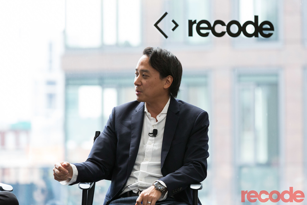 Recode Managing Editor Ed Lee onstage at Code Commerce