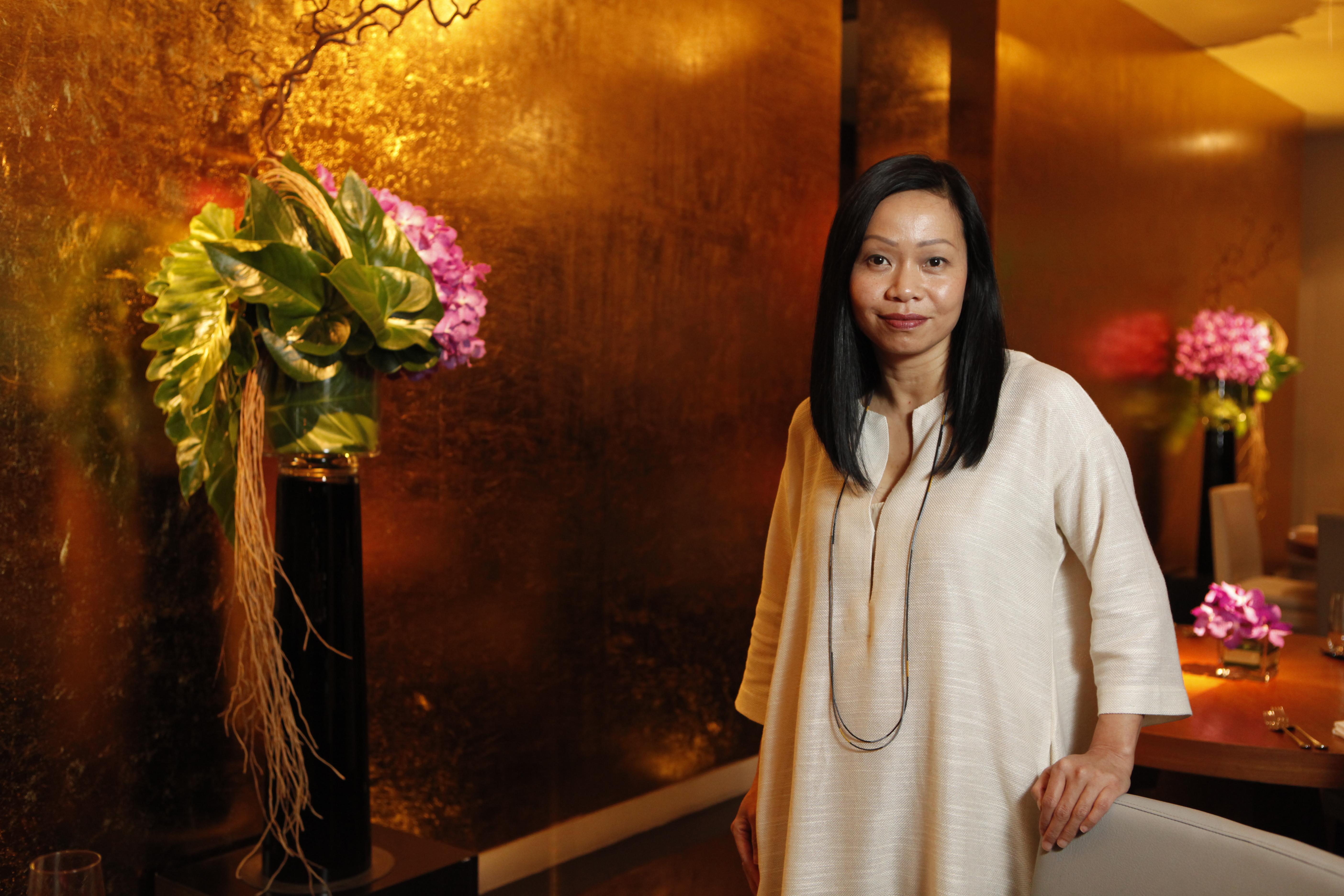 Pim Techamuanvivit at her Bangkok restaurant Naum