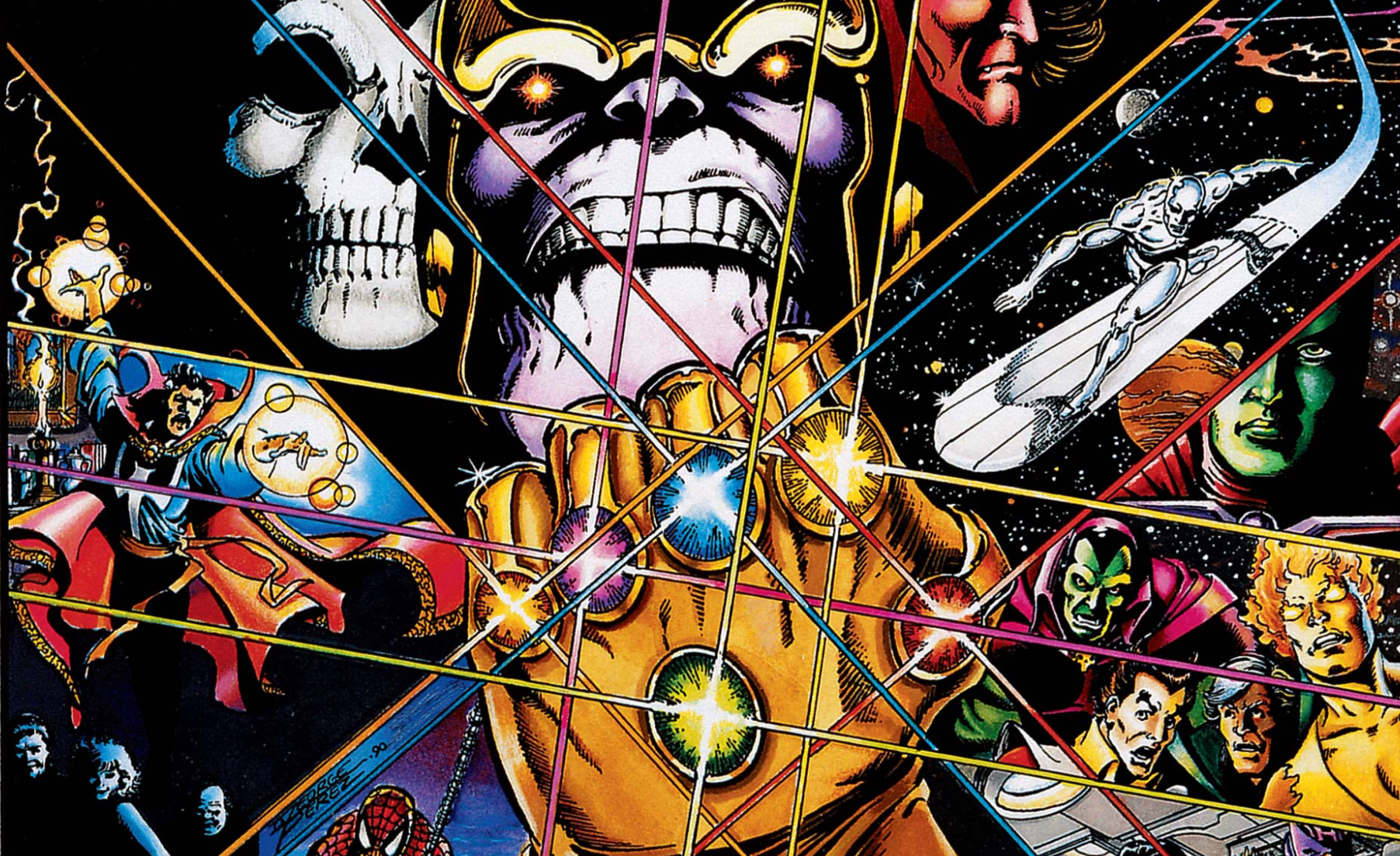 How does Avengers: Infinity War end in the comics?