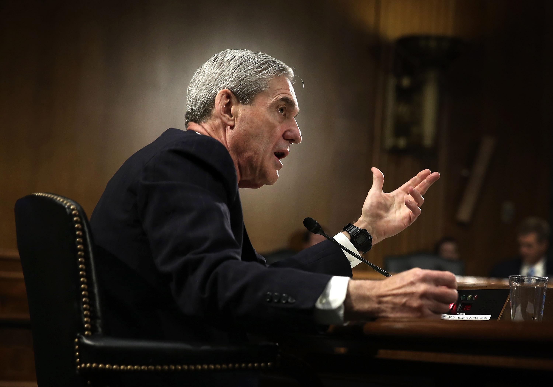 Former FBI Director Robert Mueller testifies during a hearing before the Senate Judiciary Committee June 19, 2013.