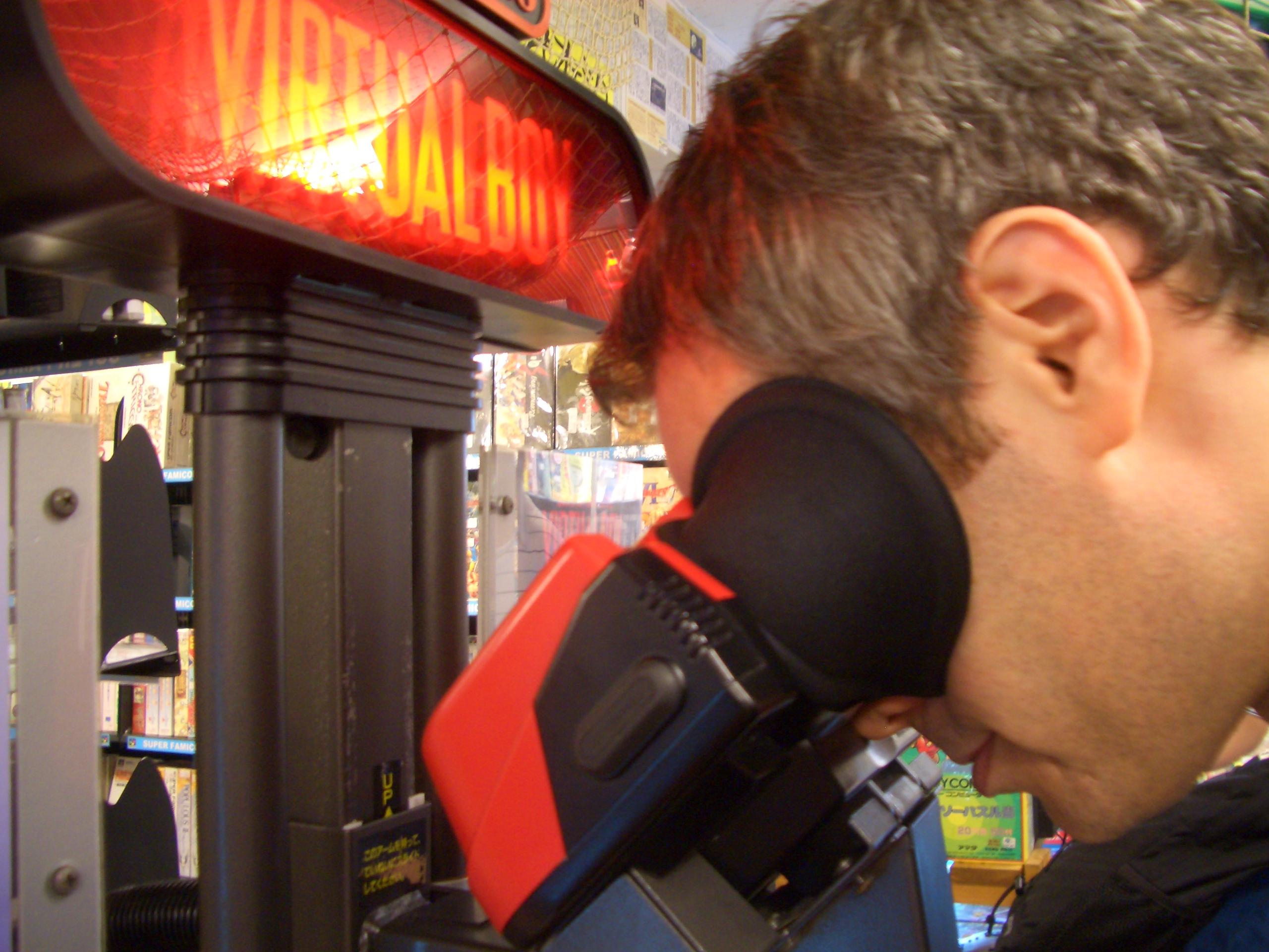 Virtual Boy demo kiosk in Akihabara, Tokyo