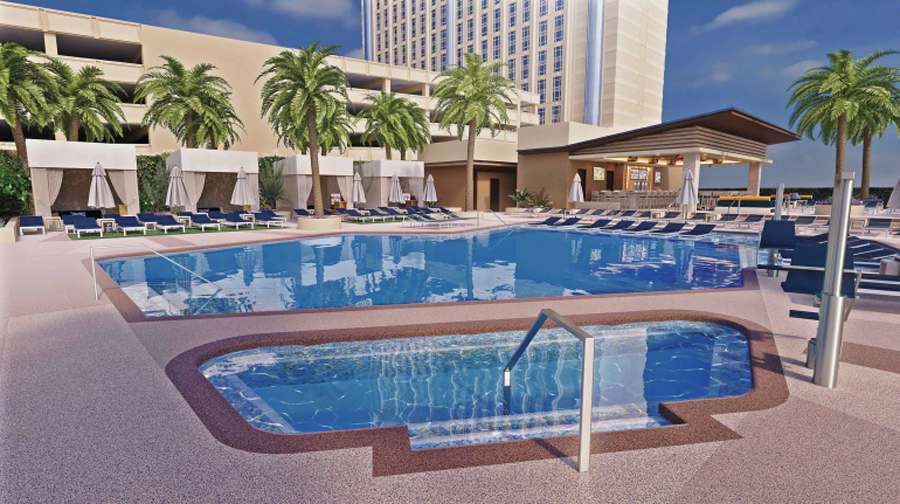 Palace Station pool rendering