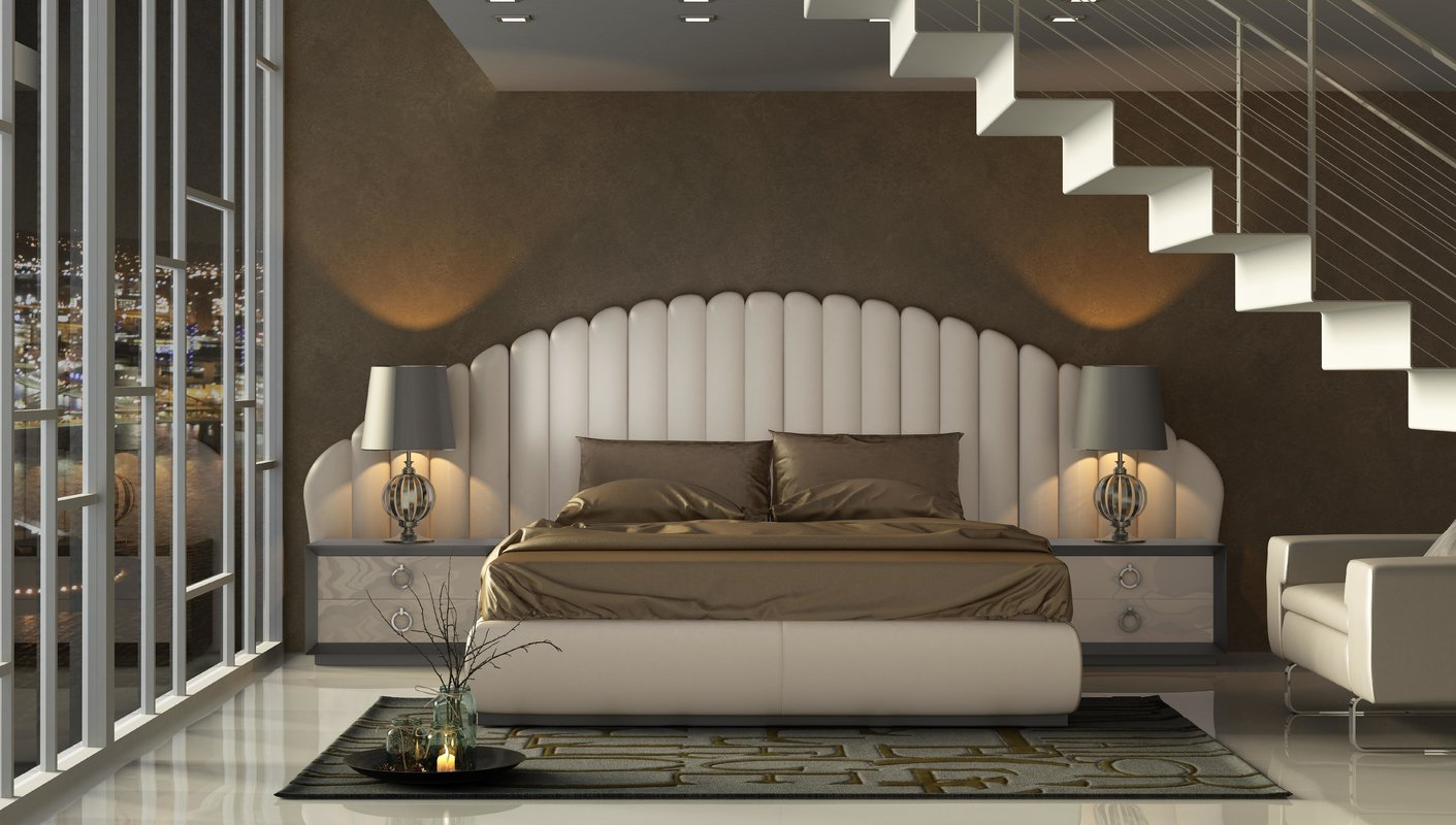 contemporary style bedroom