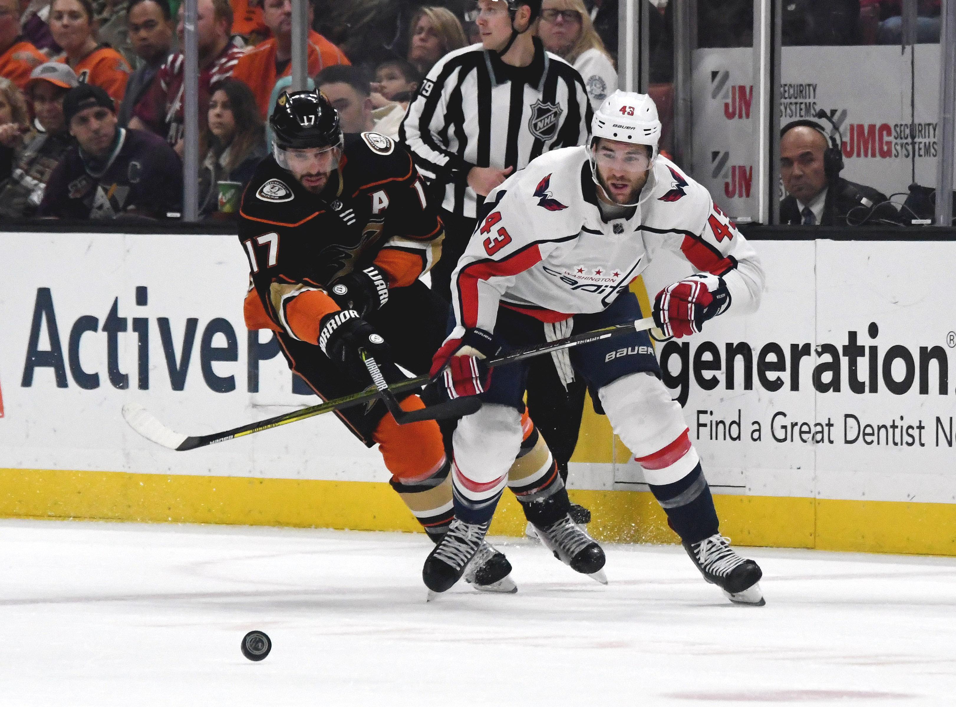 NHL: Washington Capitals at Anaheim Ducks