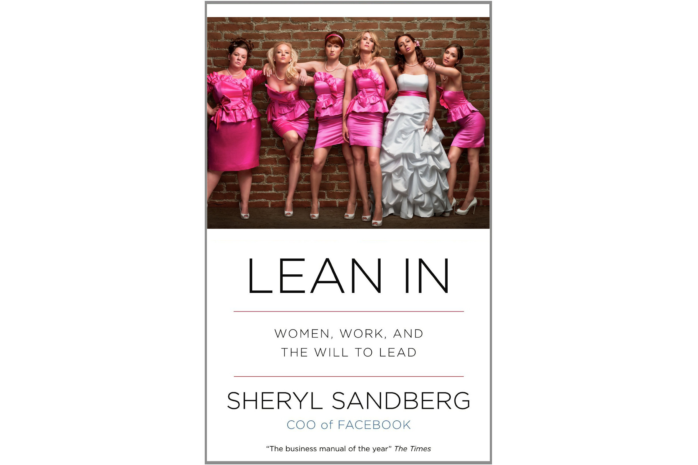 """""""Lean In"""" cover with """"Bridesmaids"""" art"""