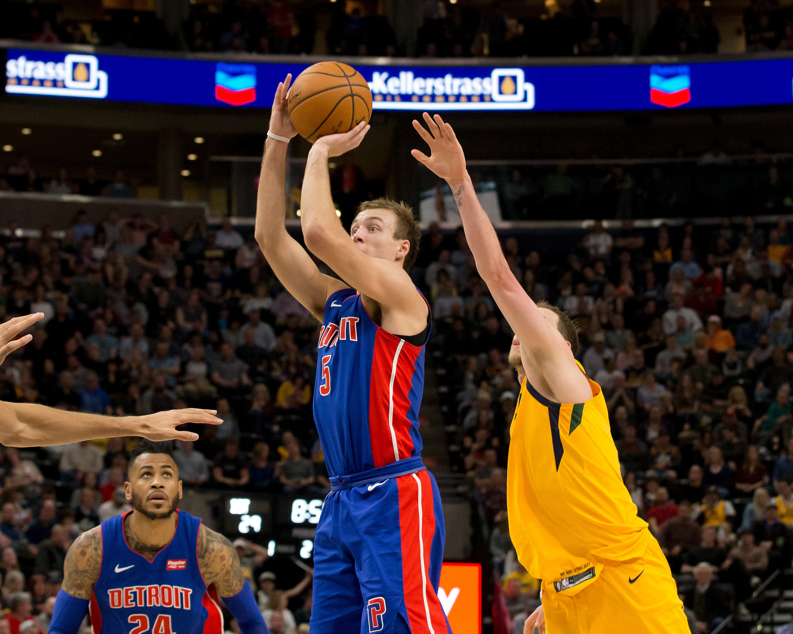 NBA: Detroit Pistons at Utah Jazz