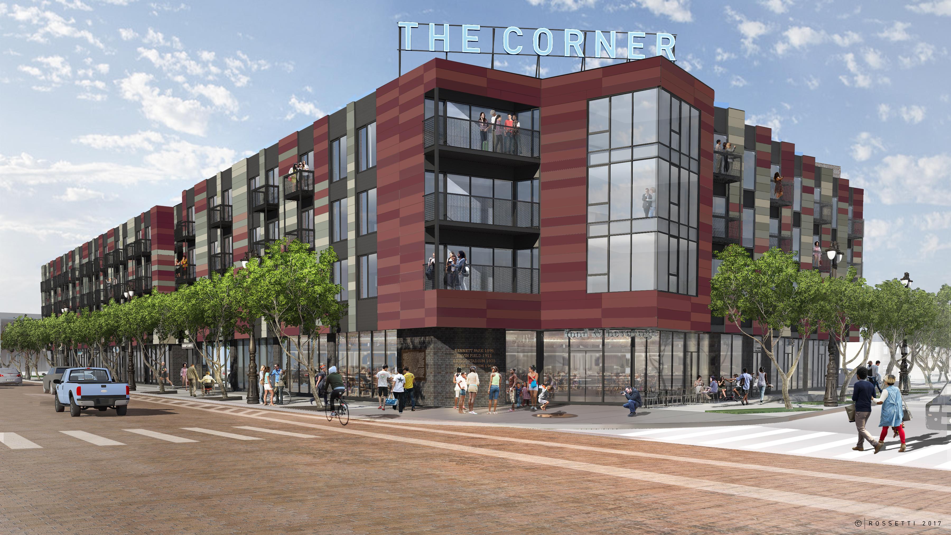 The Corner mixed use development breaks ground in