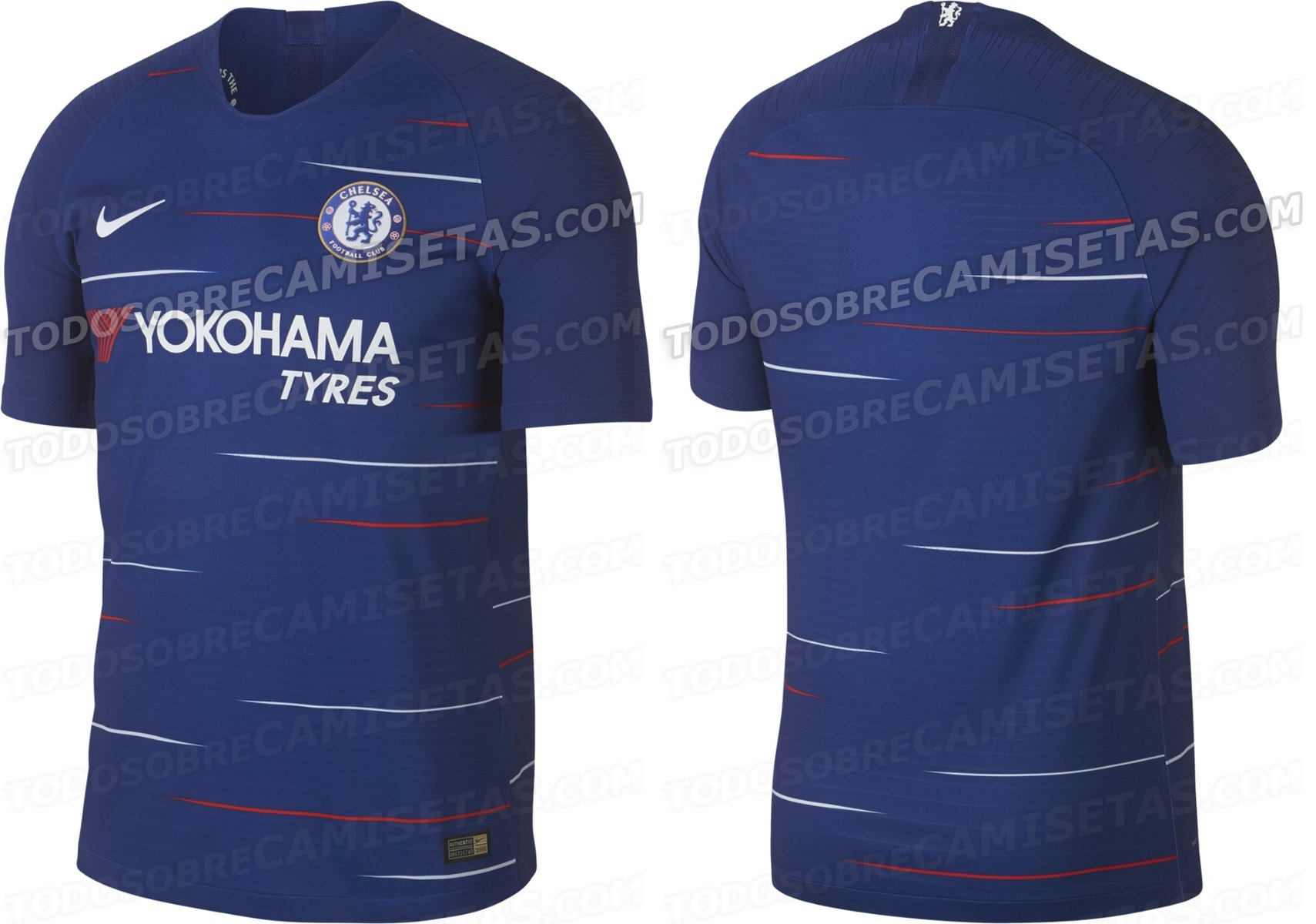 7929c3e8e First official pictures for both versions of Chelsea s 2018-19 Nike home kit  leaked