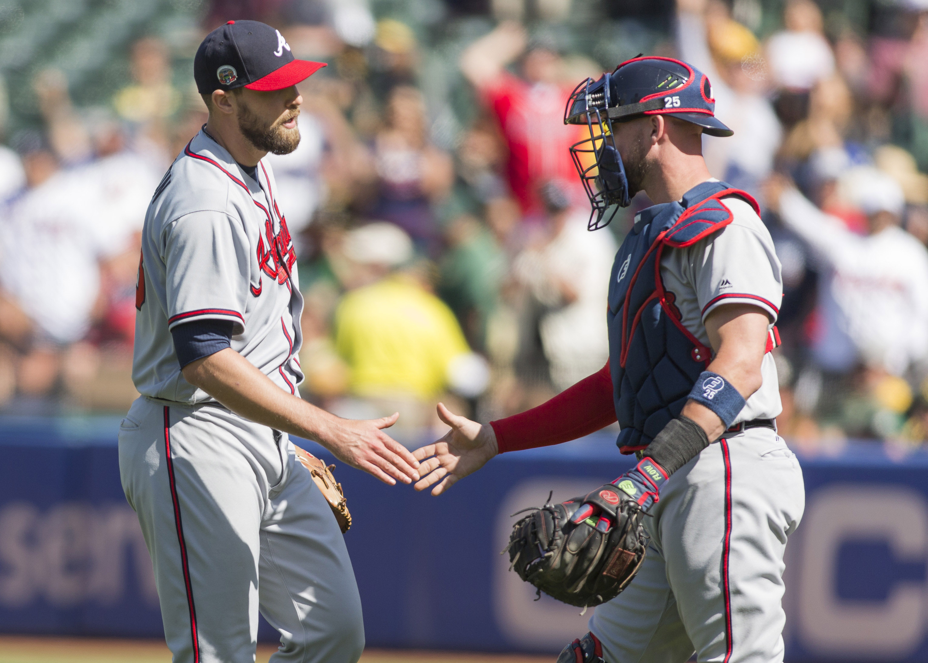 MLB: Atlanta Braves at Oakland Athletics