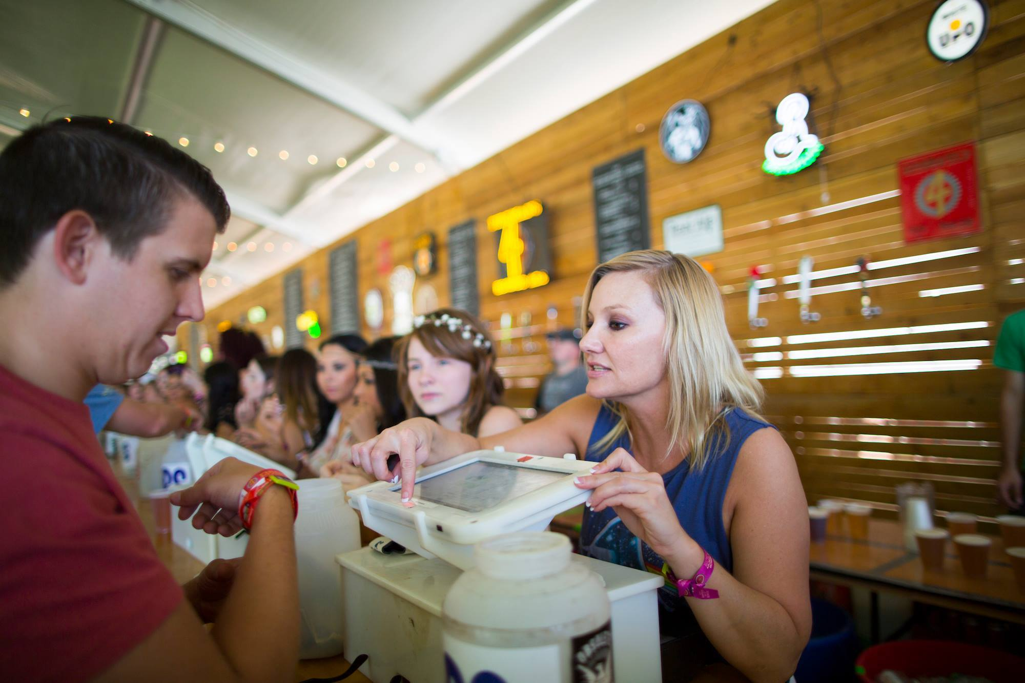 The beer hall at ACL Music Festival