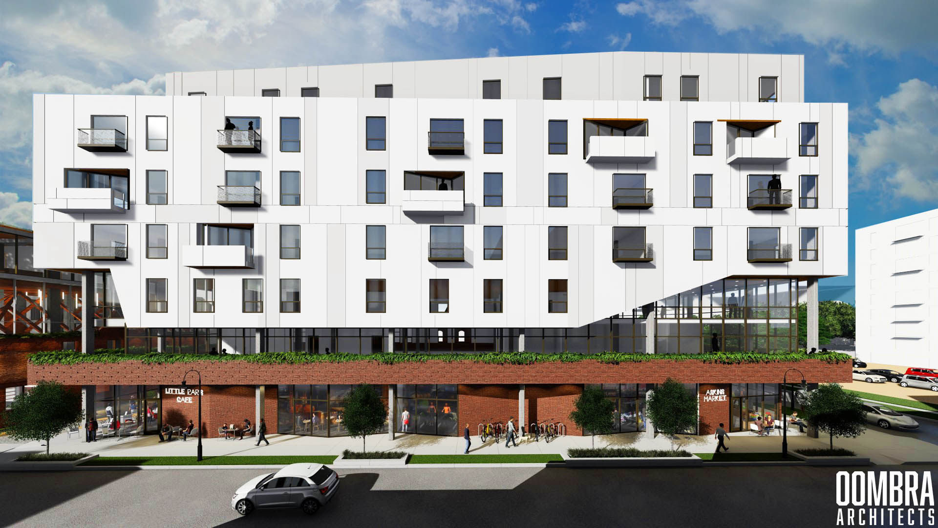 Seven story building mixed use development proposed in Brush