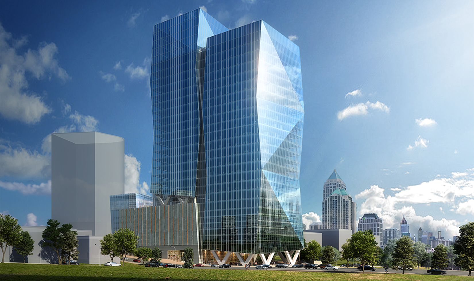 A rendering of a JLL tower proposed for 17th and Spring streets.