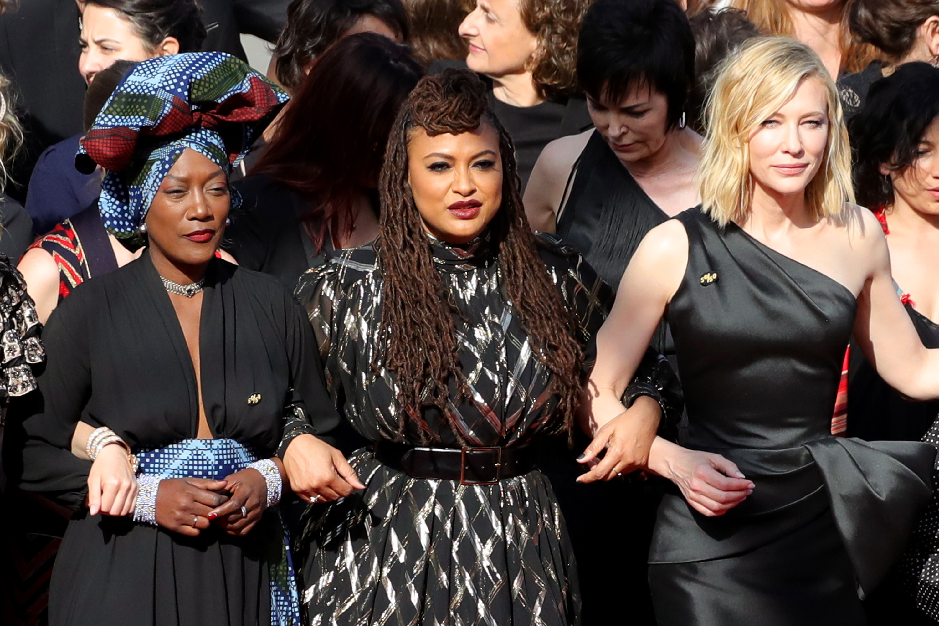 82 women protested gender inequity in the film industry on the red carpet at Cannes