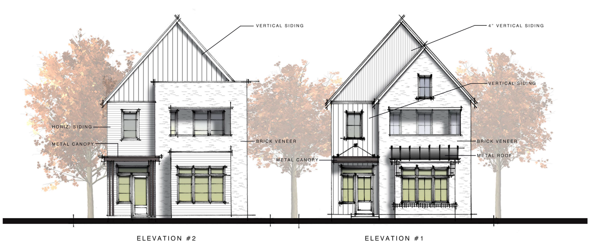 A rendering of the houses Monte Hewett plans to build