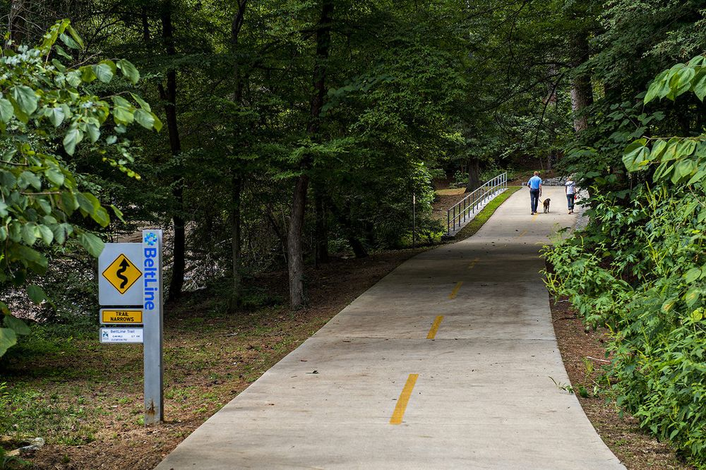 A photo of the Beltline trail