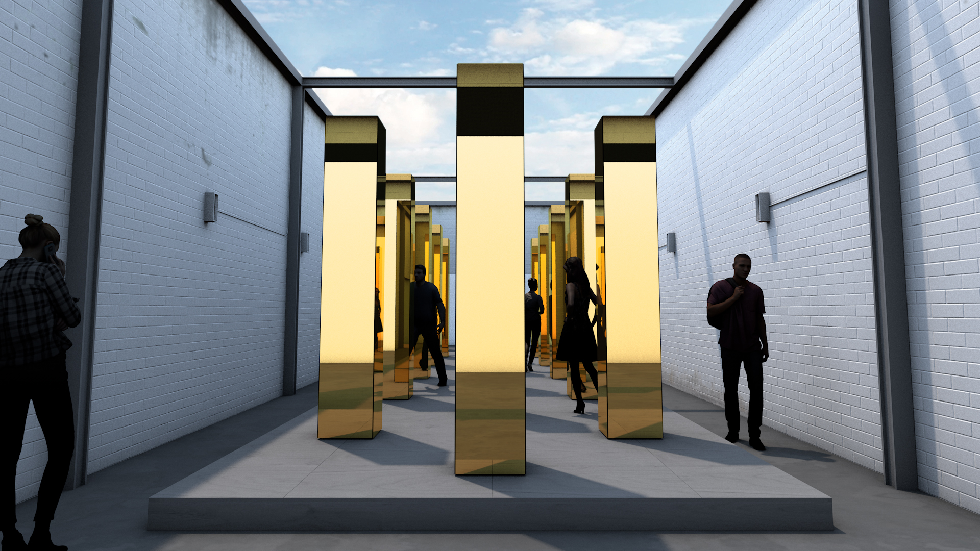 Reflective columns