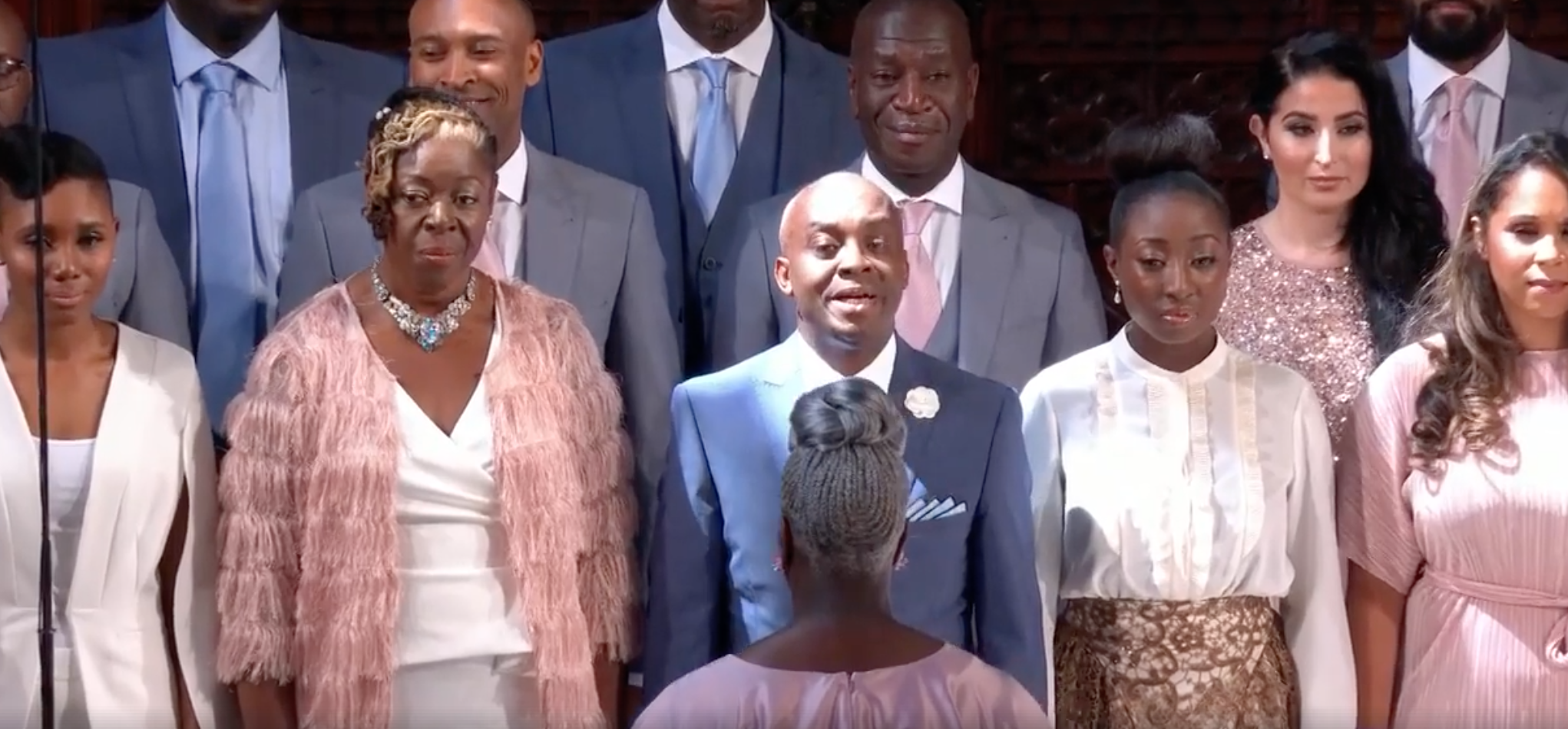 """""""Stand by me"""" performed at the royal wedding by Karen Gibson and The Kingdom Choir."""