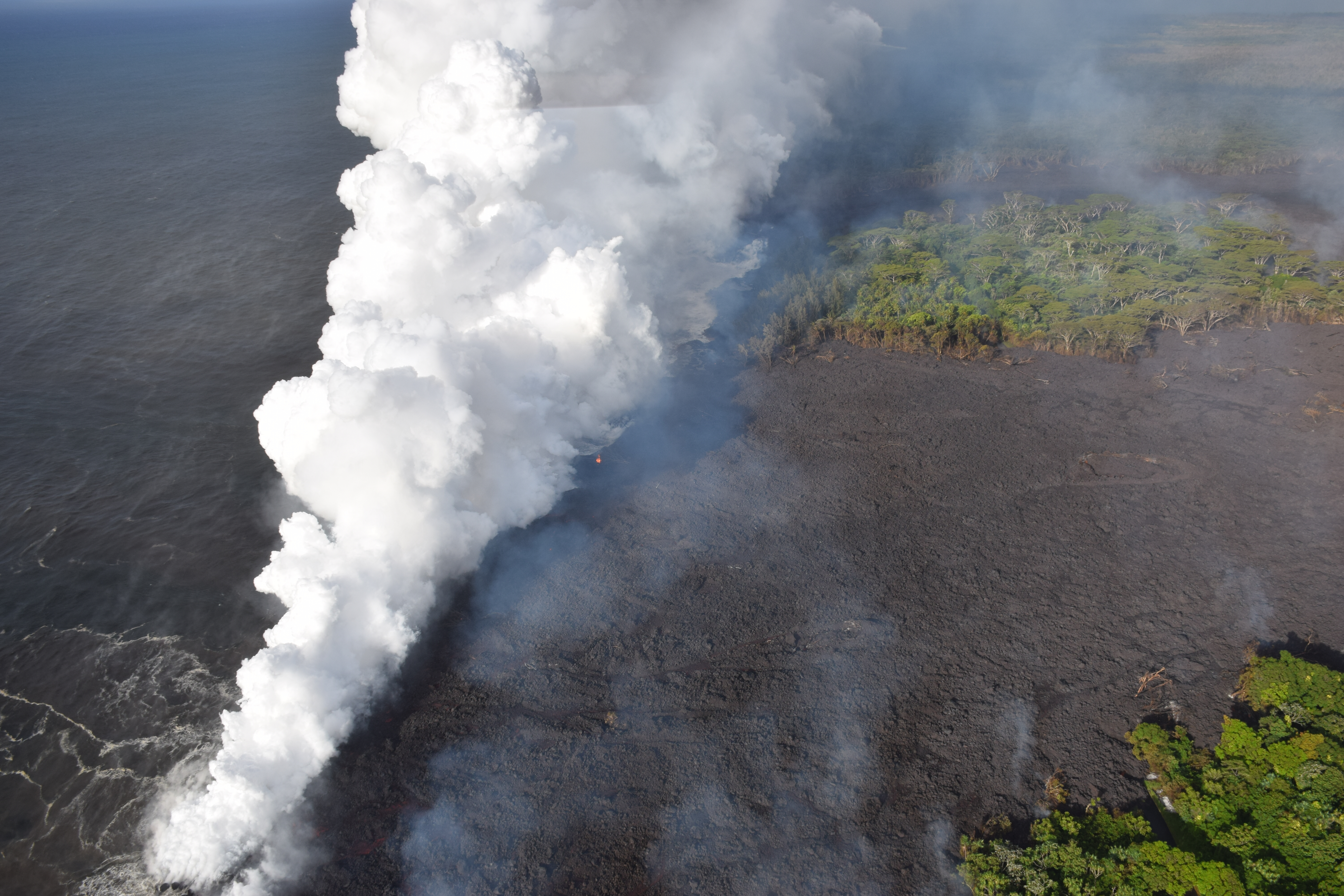 The lava striking the sea is gorgeous — and can be deadly