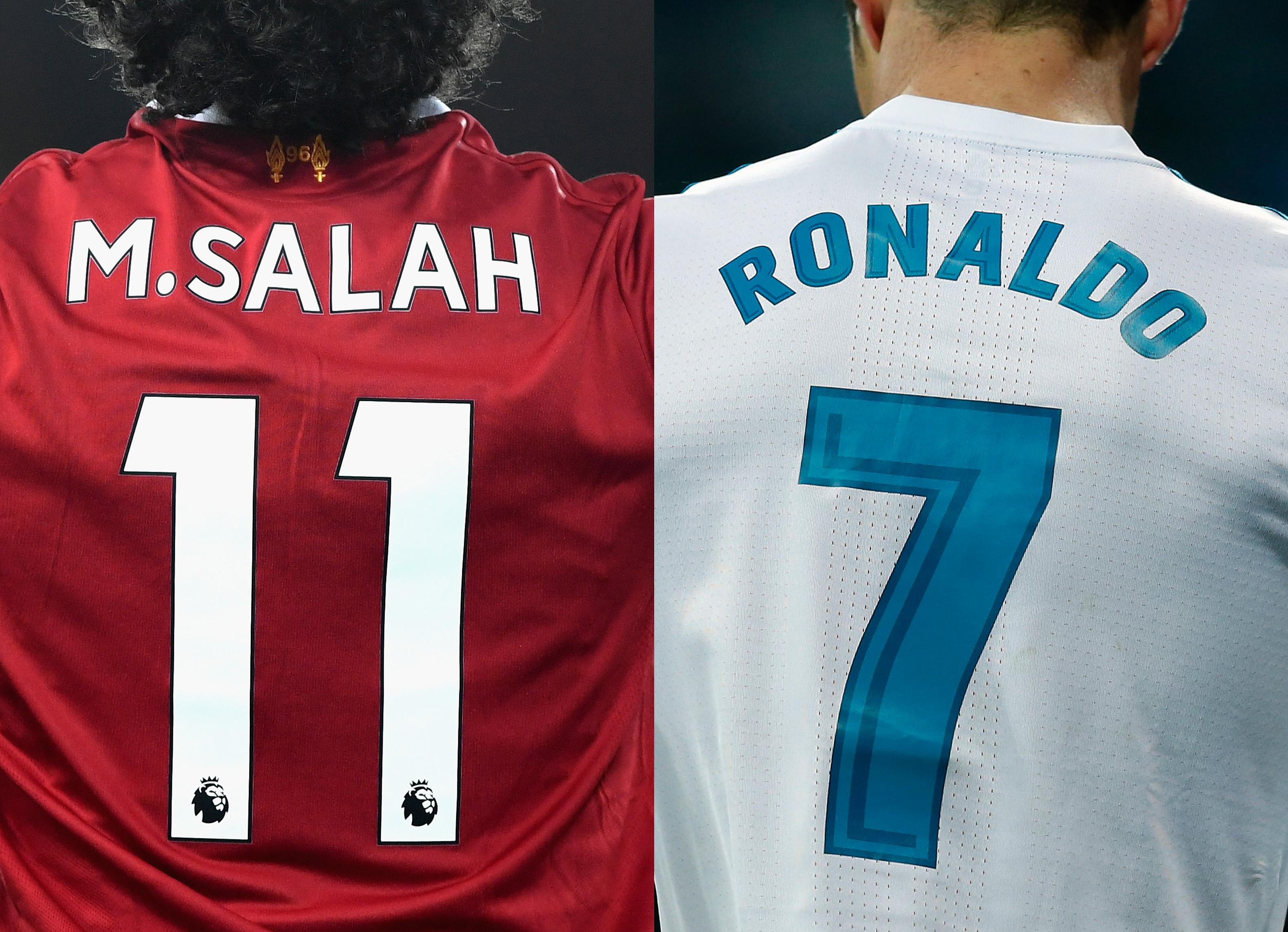 e095fb4b Mohamed Salah and Cristiano Ronaldo - Real Madrid v Liverpool - UEFA  Champions League Final
