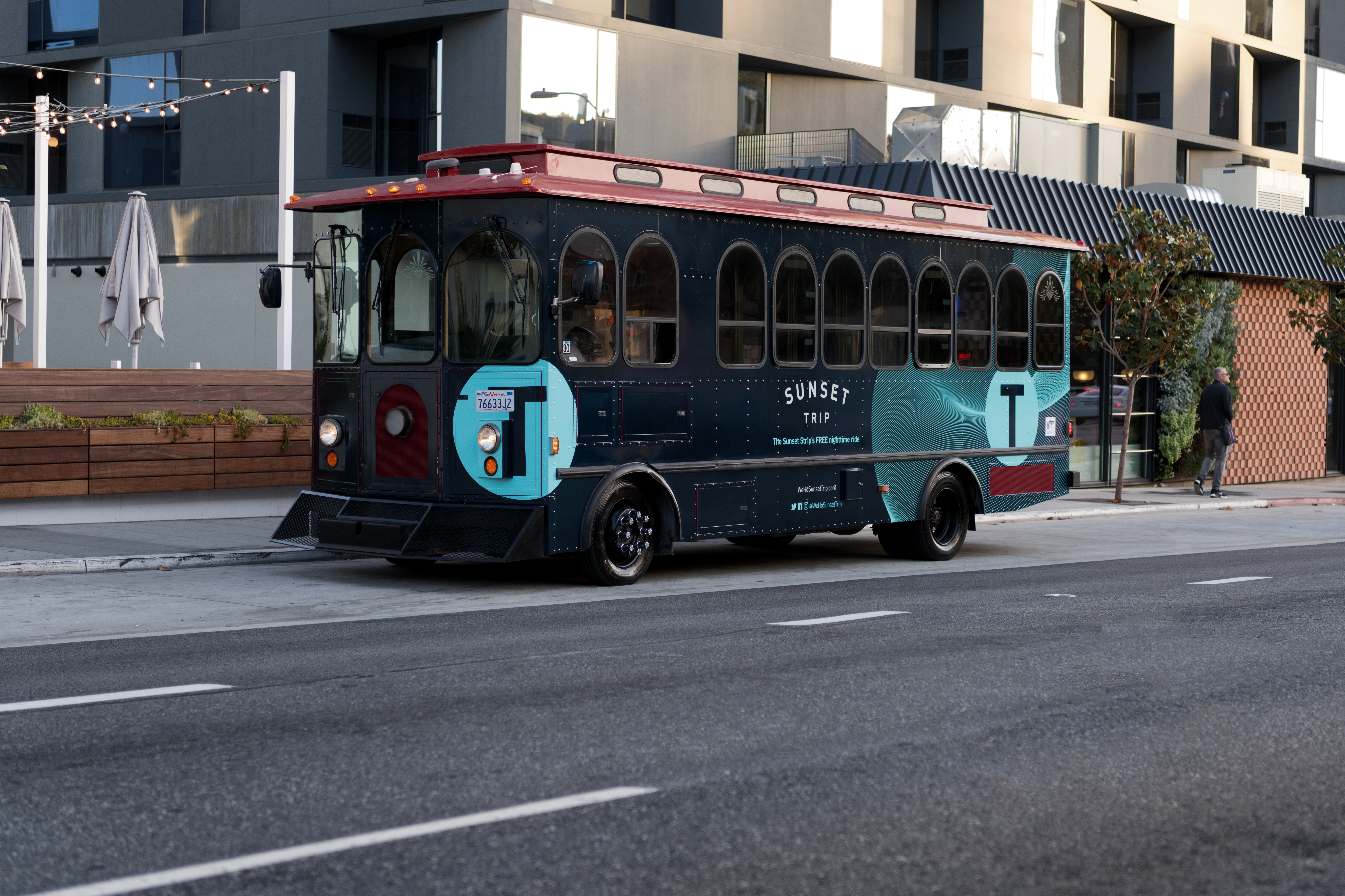The Sunset Trip trolley