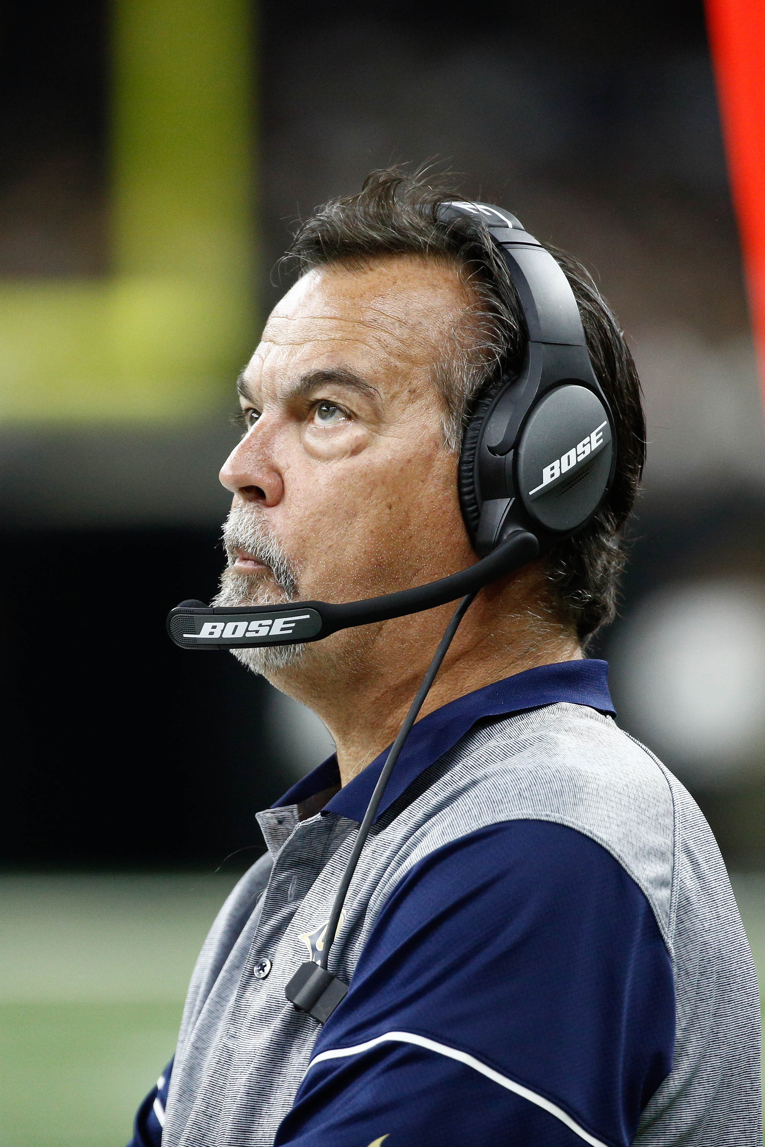 Former Los Angeles Rams Head Coach Jeff Fisher against the New Orleans Saints, November 27, 2016.