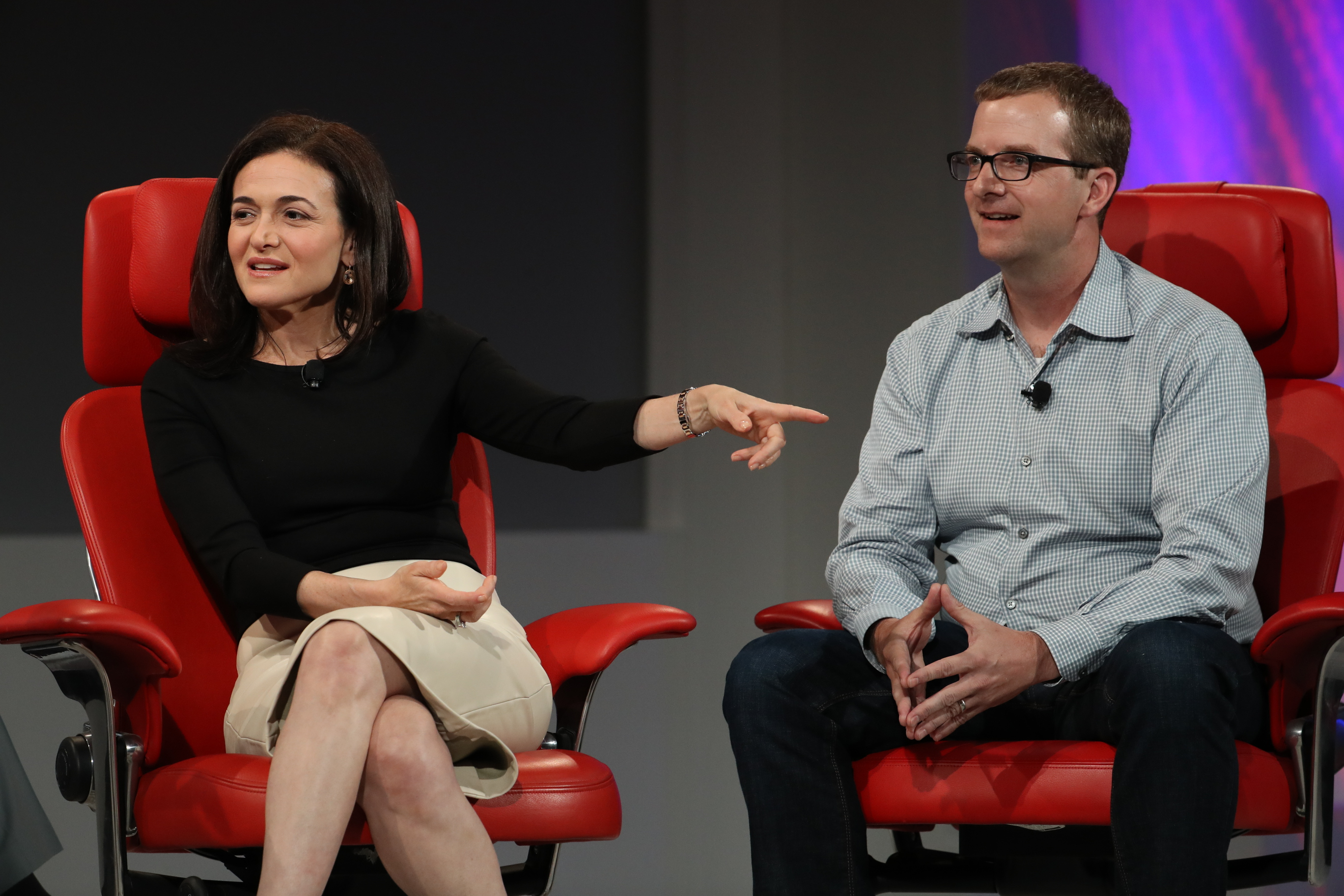 Facebook COO Sheryl Sandberg and CTO Mike Schroepfer