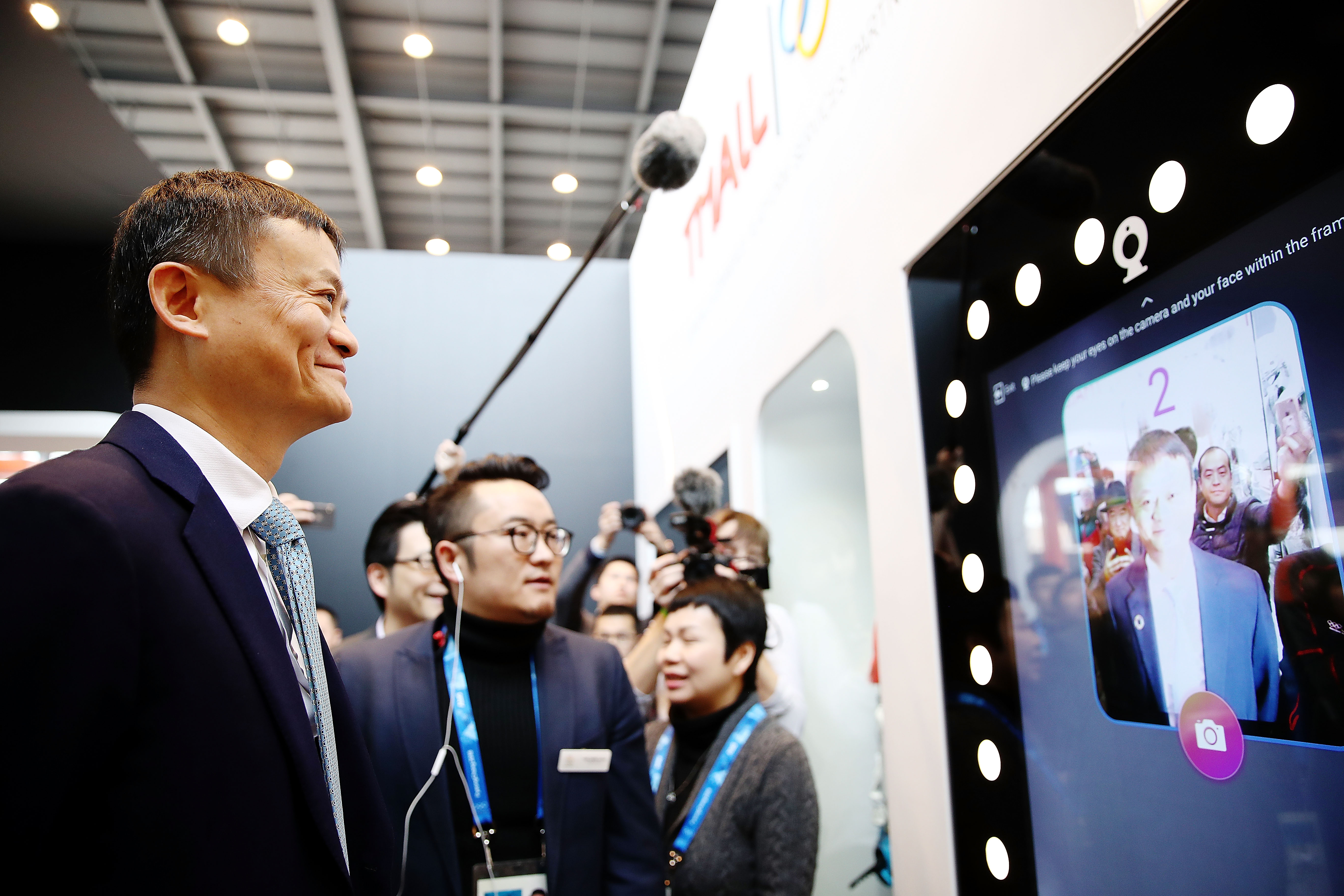 Alibaba Group Chairman Jack Ma at the Olympic Showcase