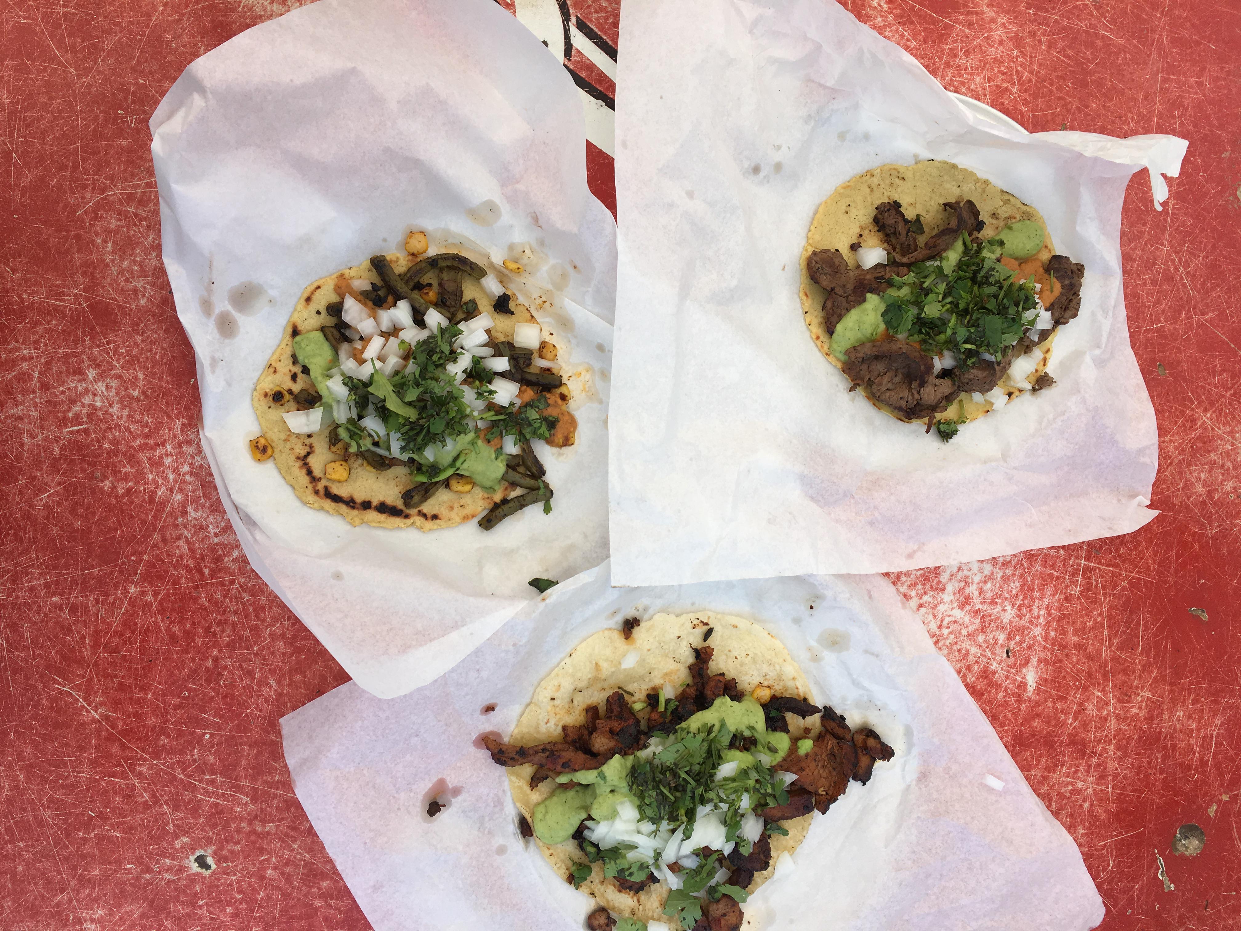 Tacos from Vaquero Taquero