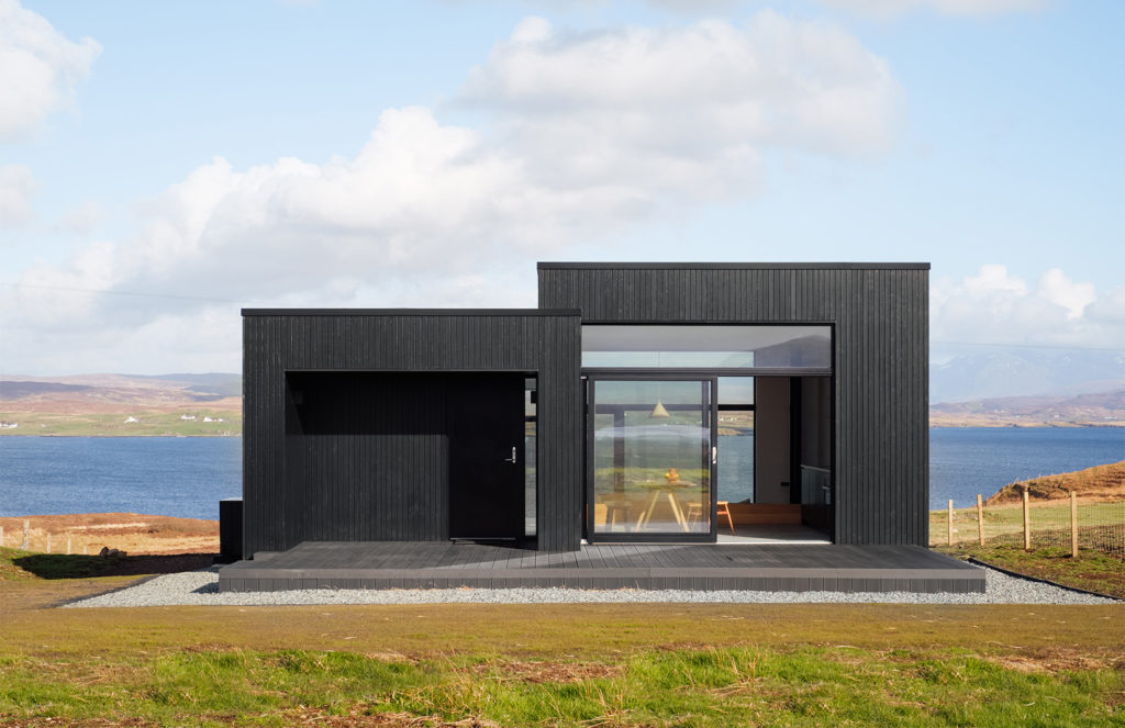 Minimalist charred-timber getaway is available to rent