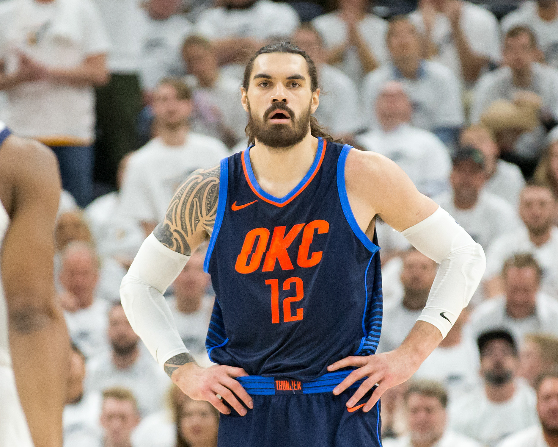 26ffd308eab Player Grades  Steven Adams revealed his quality - Welcome to Loud City