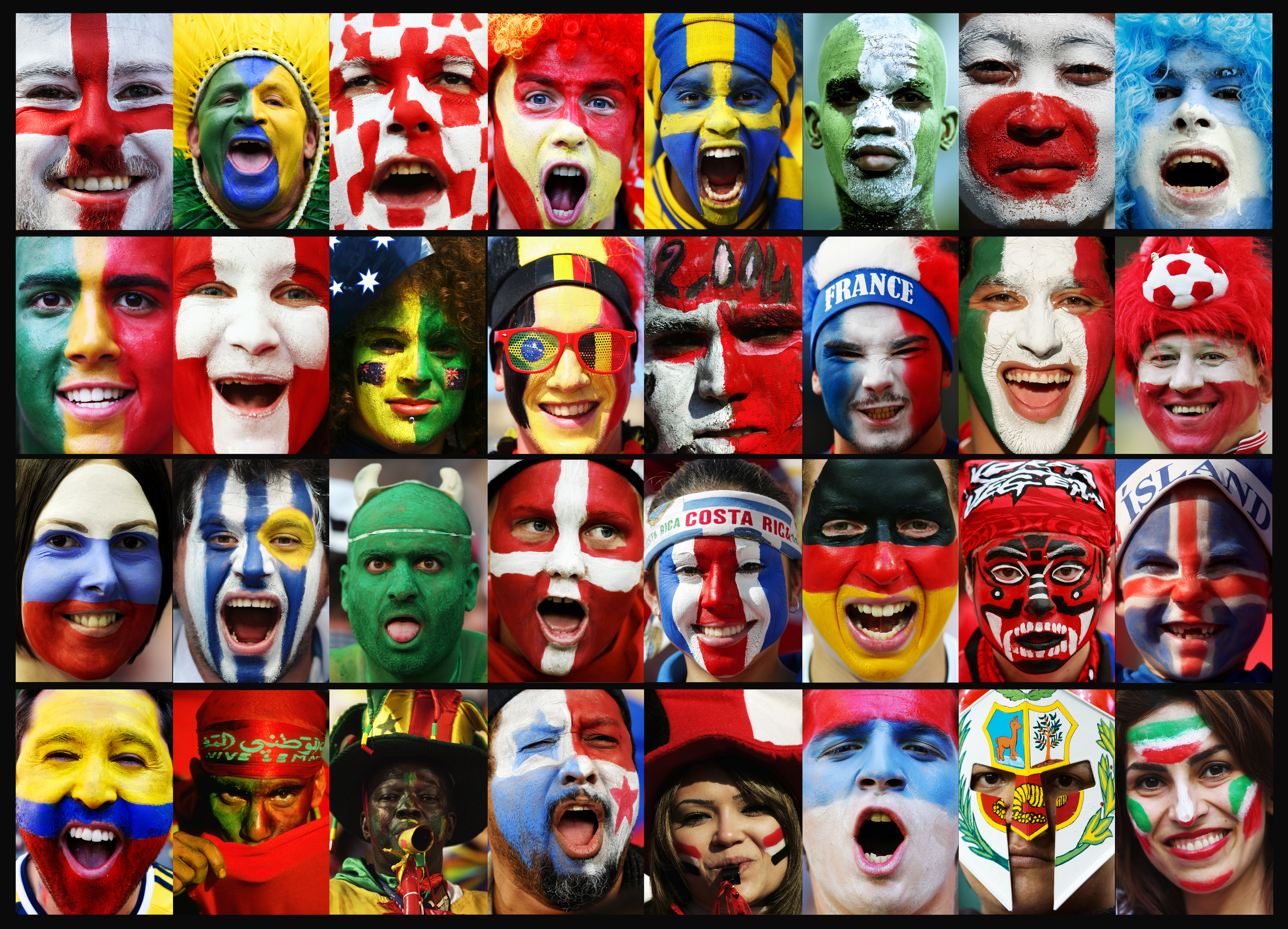 World Cup Russia 2018  - Fans Of The 32 Nations