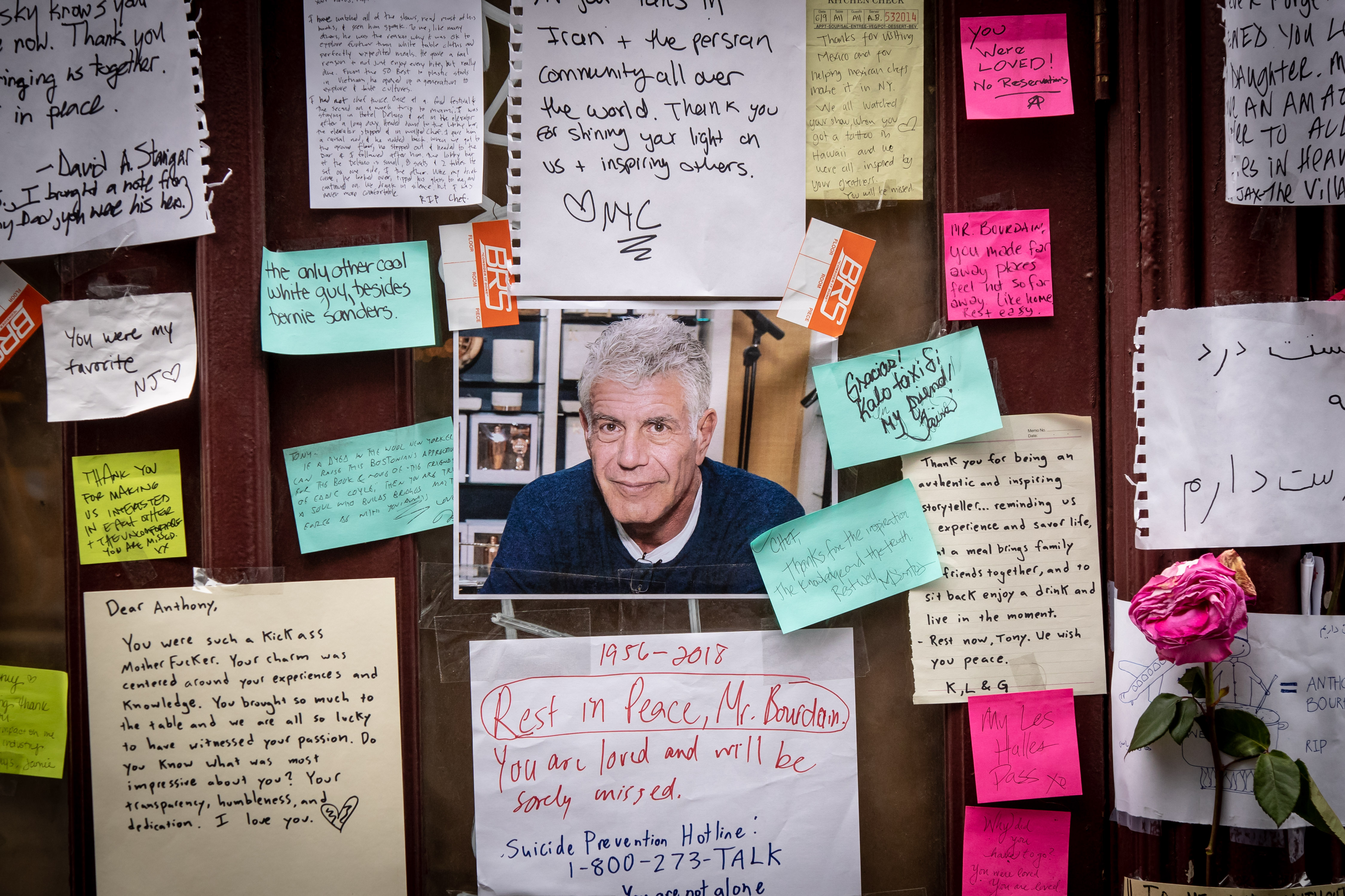 The Anthony Bourdain memorial at Les Halles