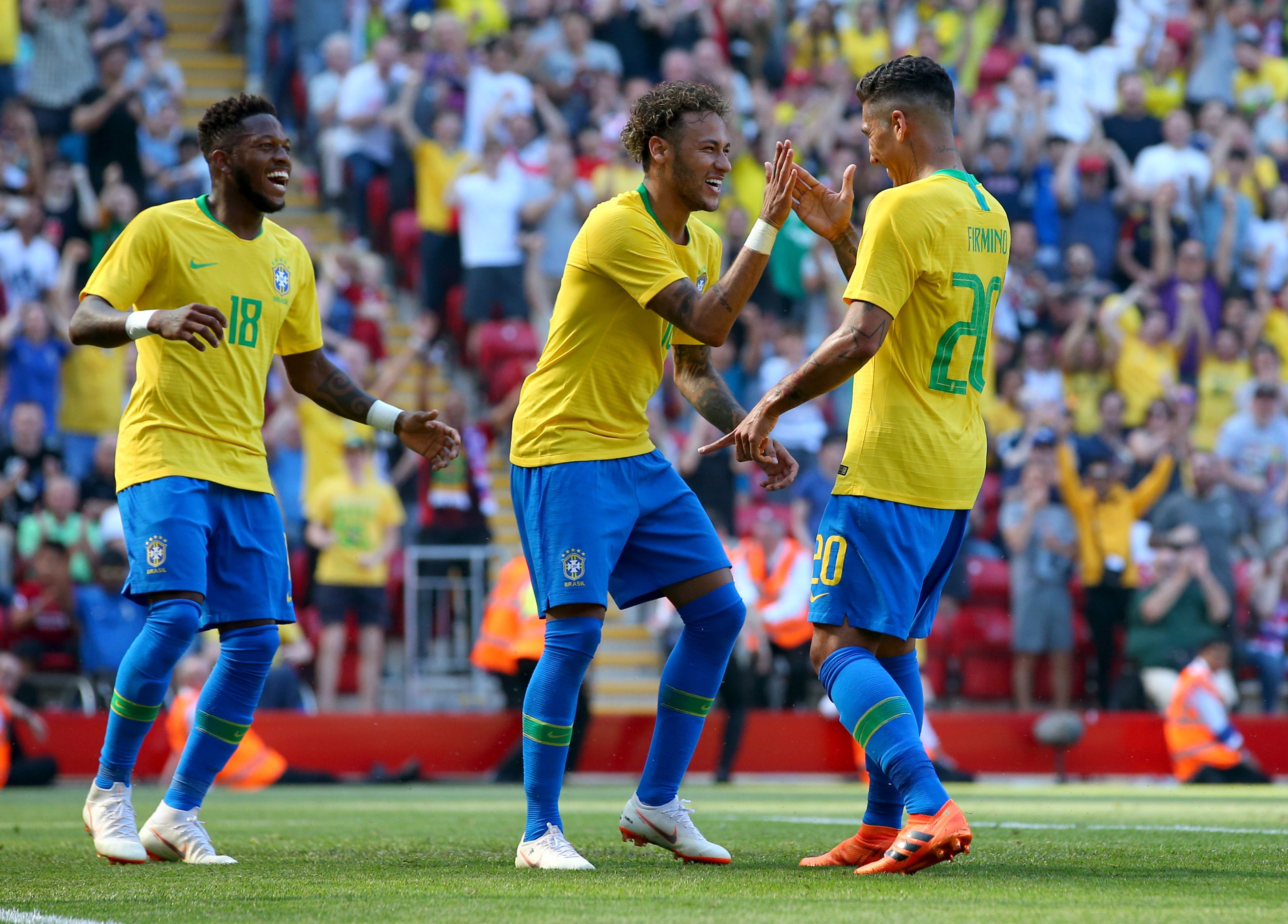 Neymar, Firmino and Fred - Brazil - FIFA World Cup