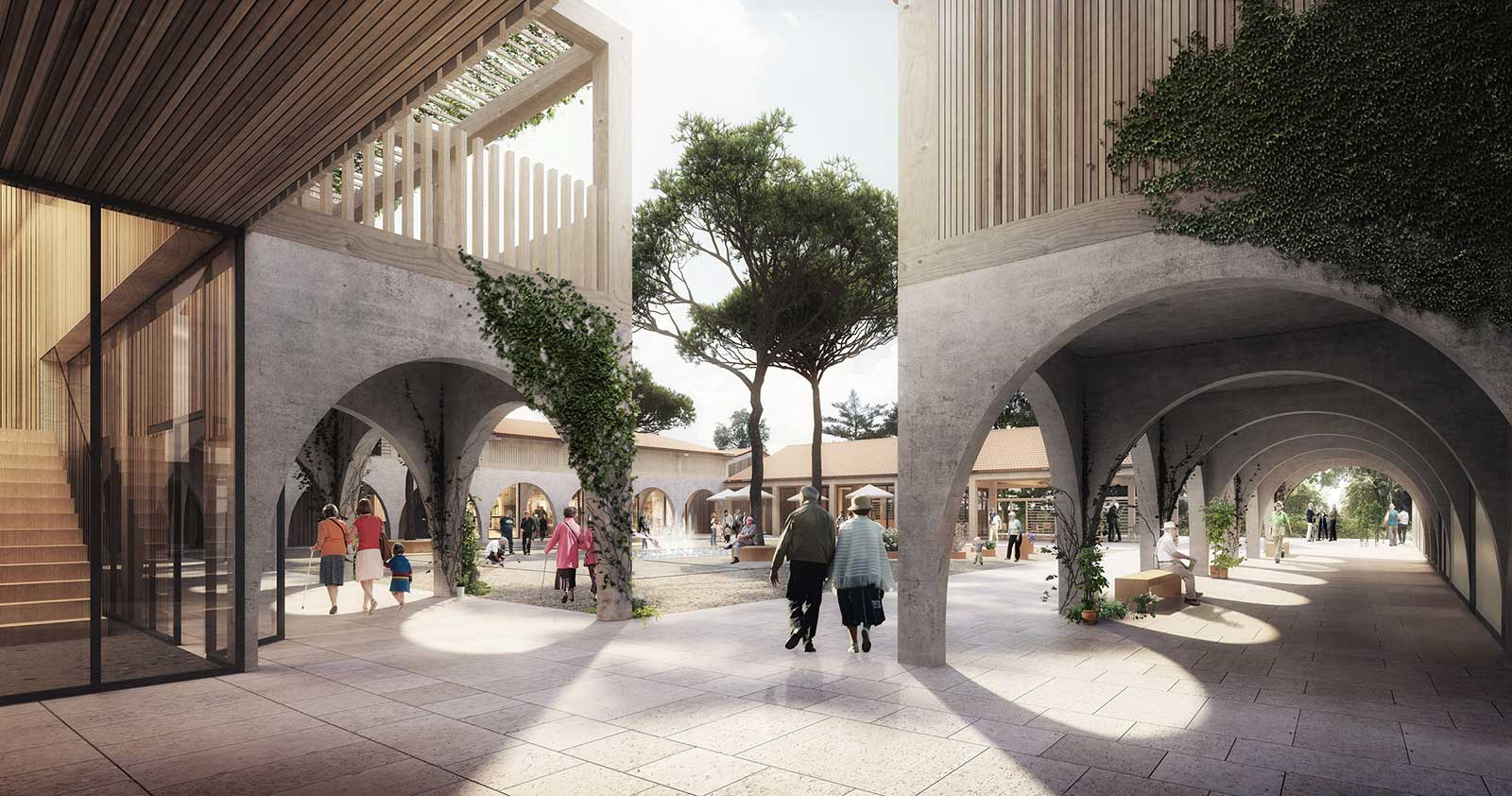 Medieval-inspired French village is designed specifically for Alzheimer's patients