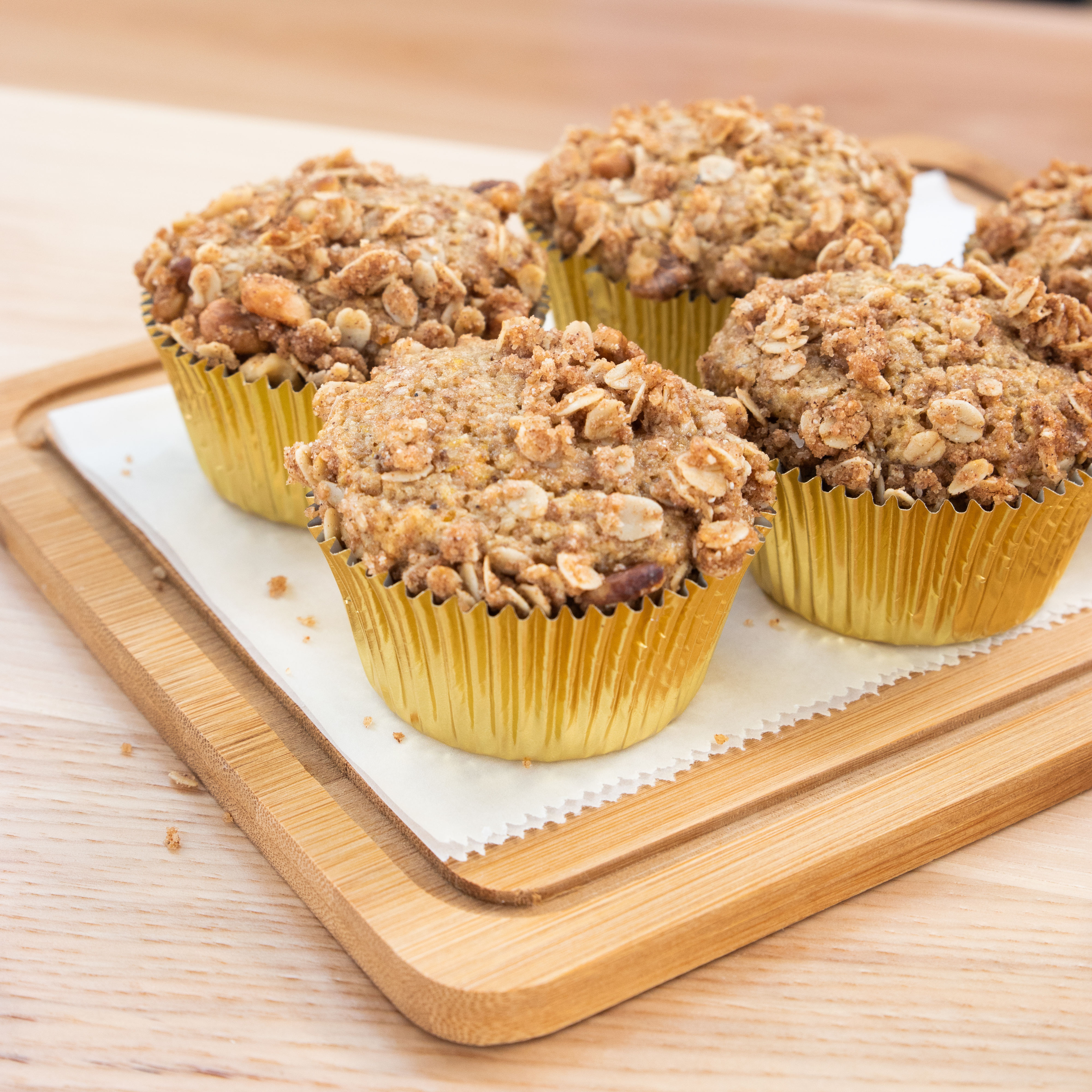 Orange rye muffins from the Cookbook's coffee cart