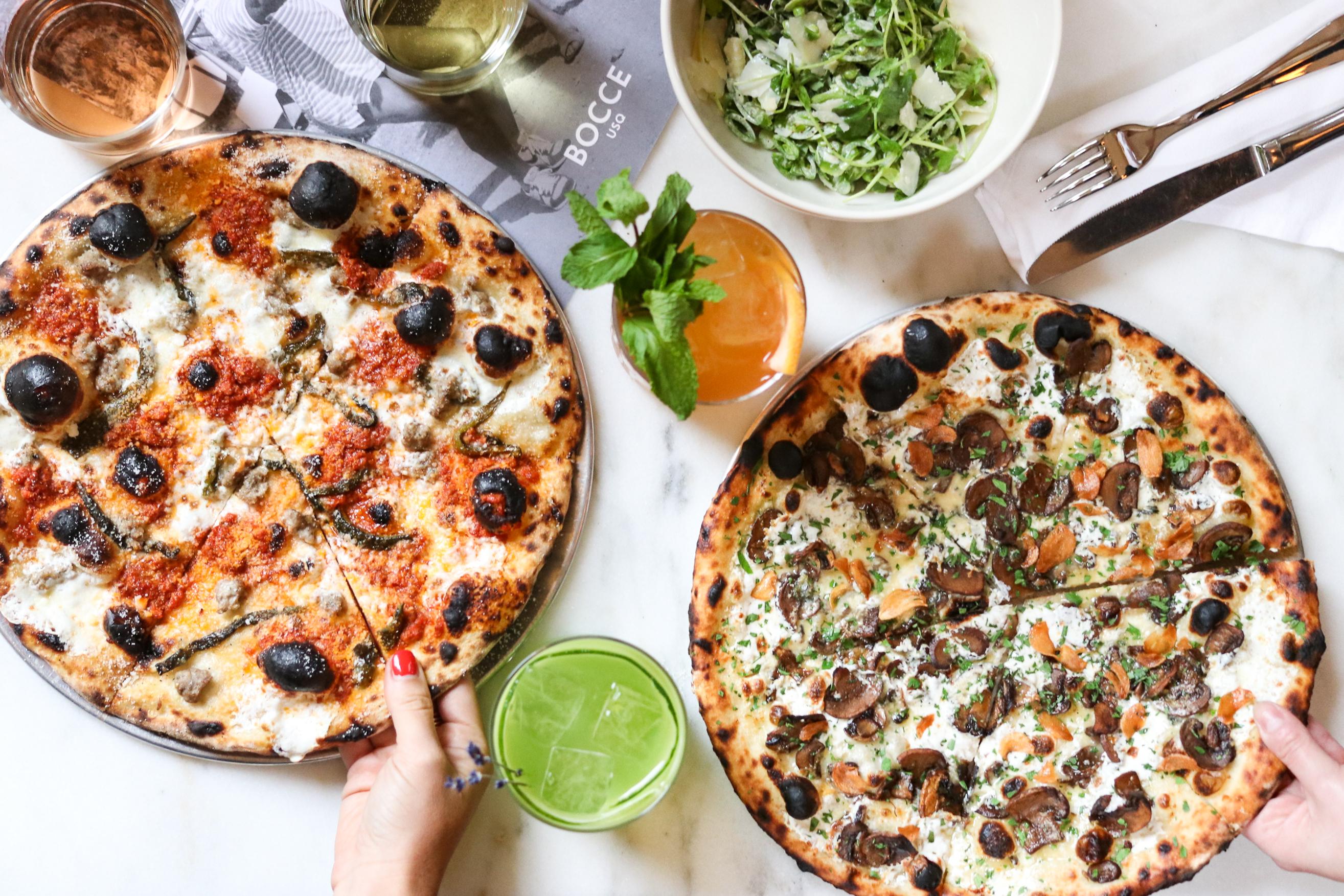 Bocce pizza