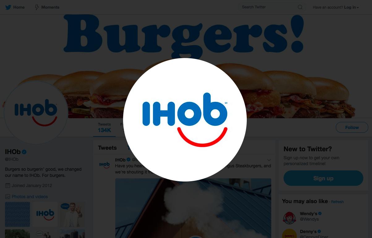 """IHOP's new """"IHOB"""" logo"""