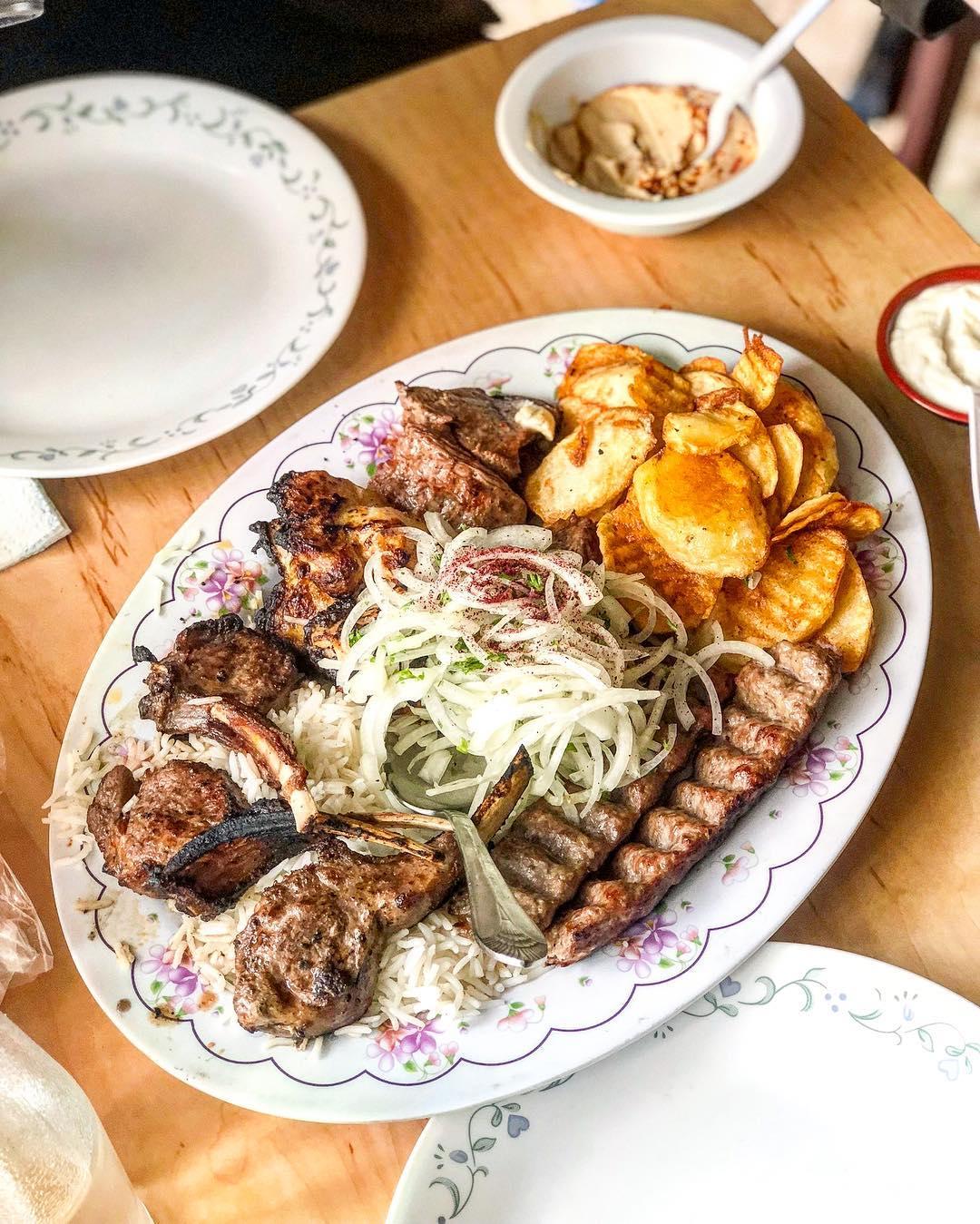 Kebabs plate at Mini Kabob