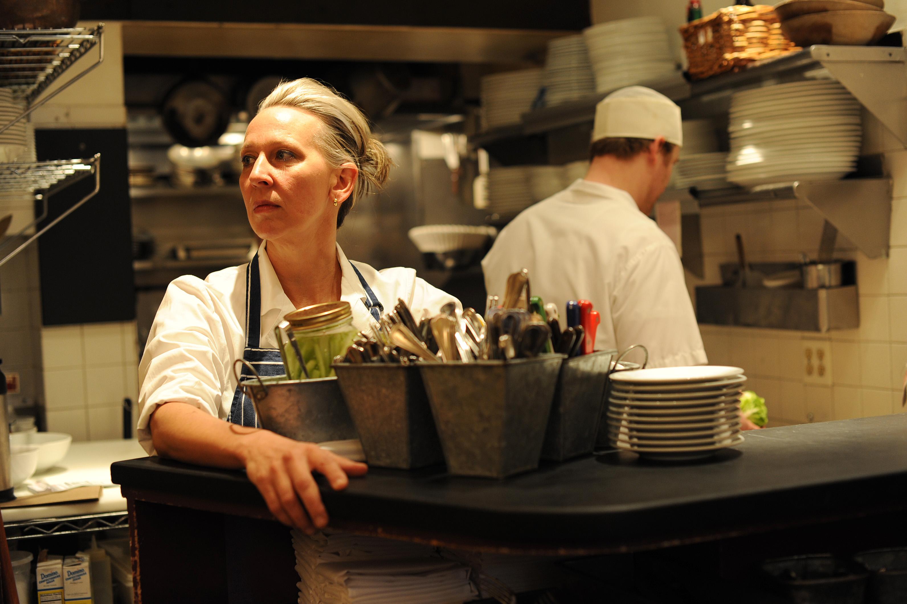 Gabrielle Hamilton in Prune's kitchen