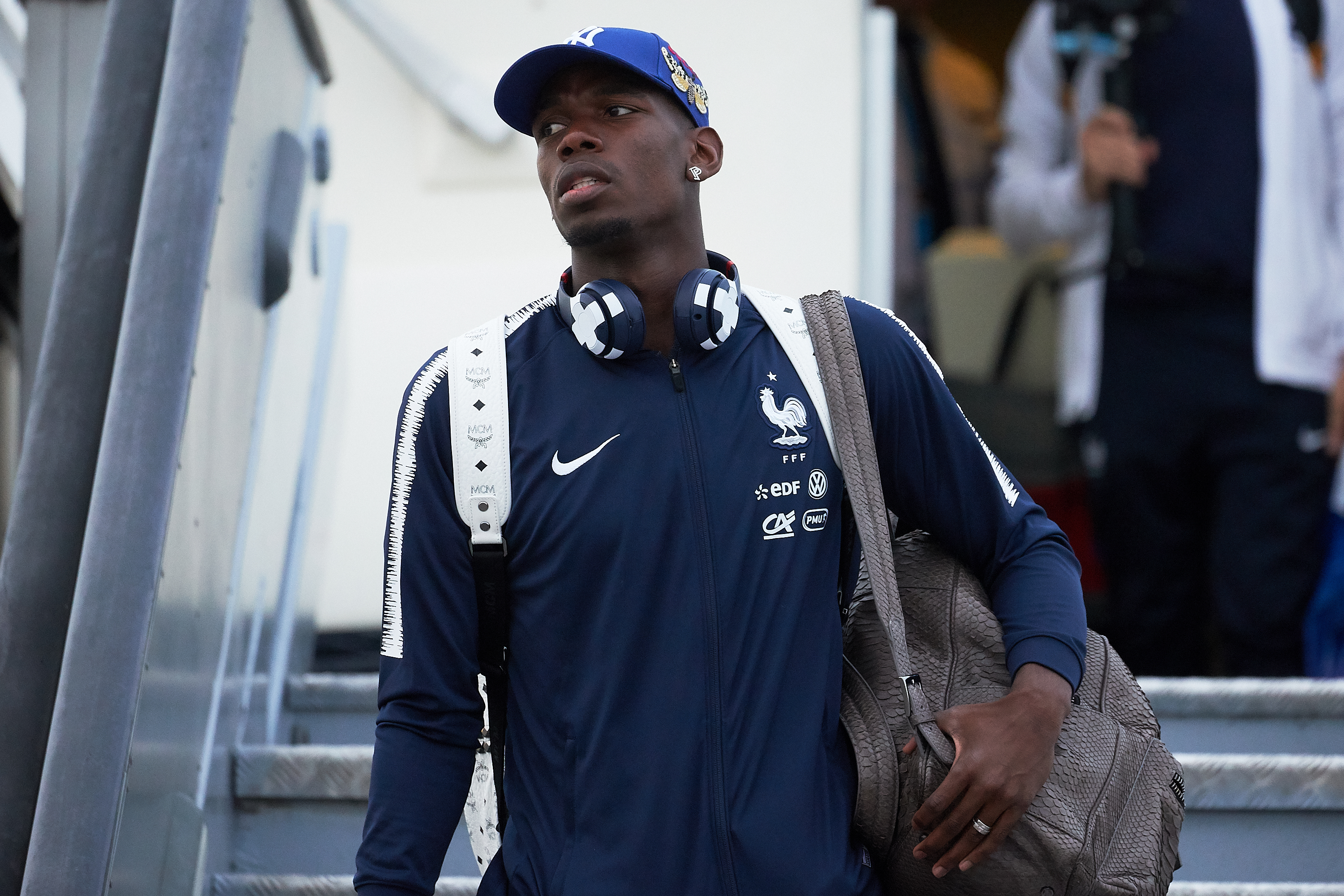 France Team Arrives in Moscow - 2018 FIFA World Cup