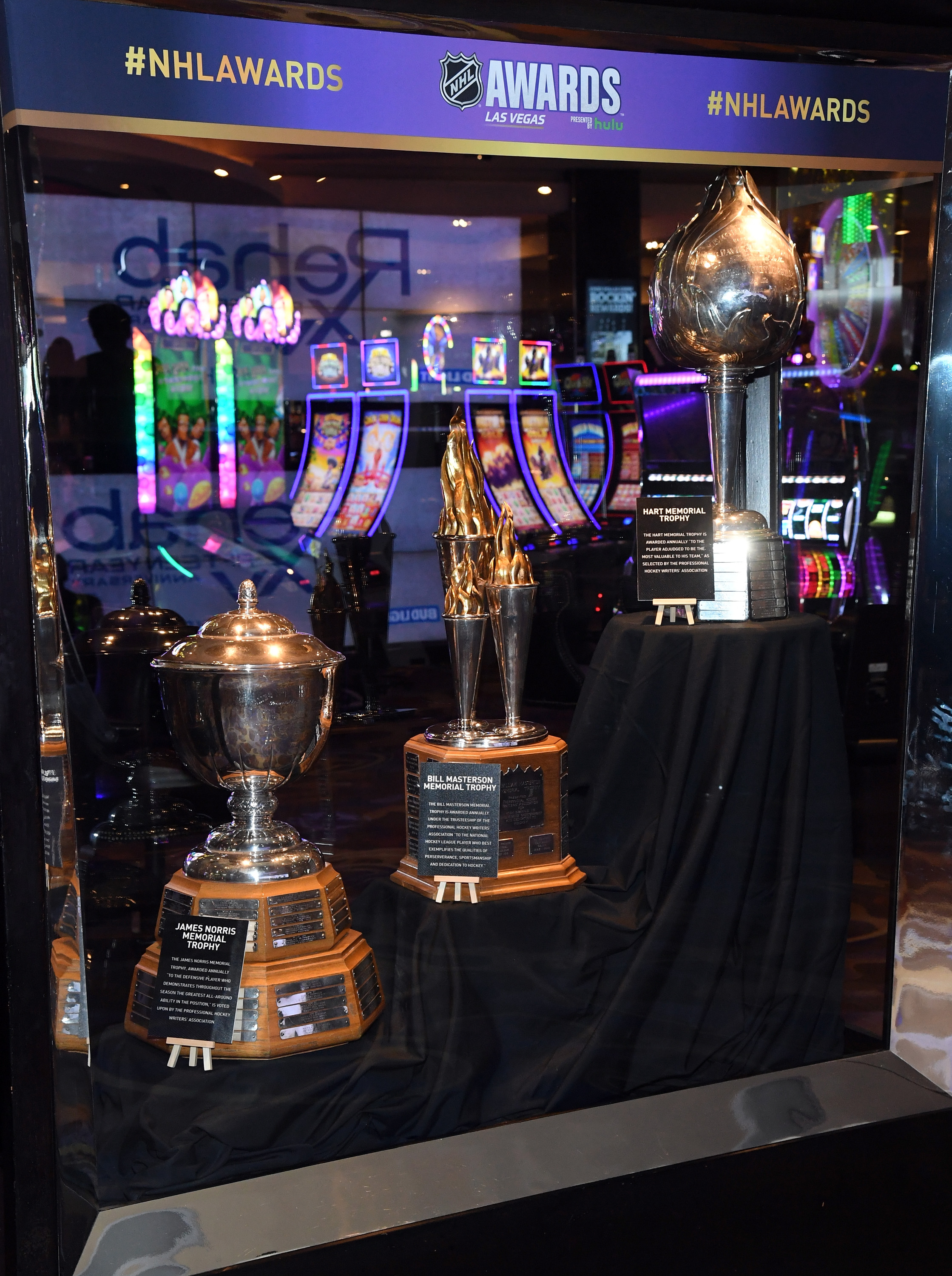 NHL Trophies Displayed At The Hard Rock Hotel & Casino Ahead Of The 2018 NHL Awards
